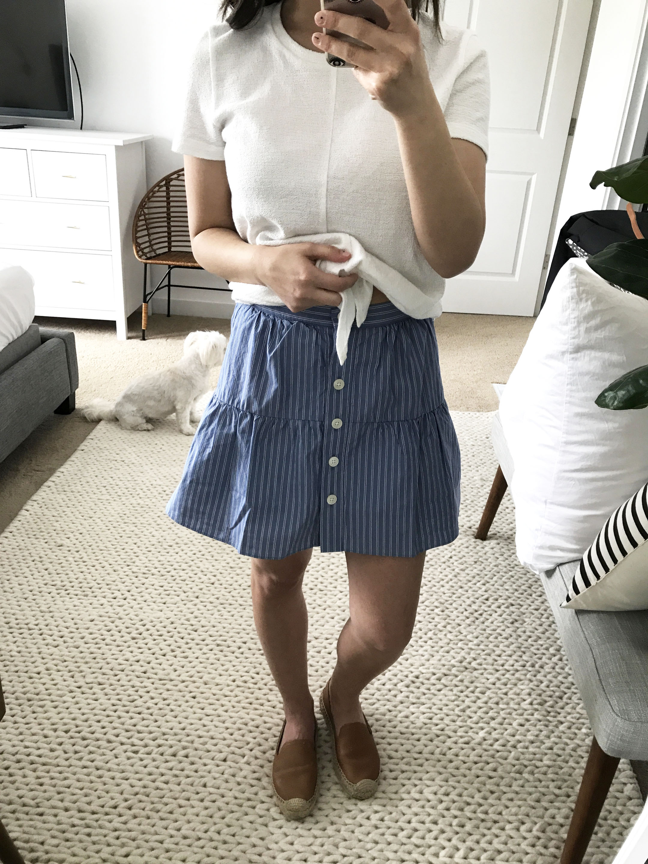 Madewell striped skirt 1