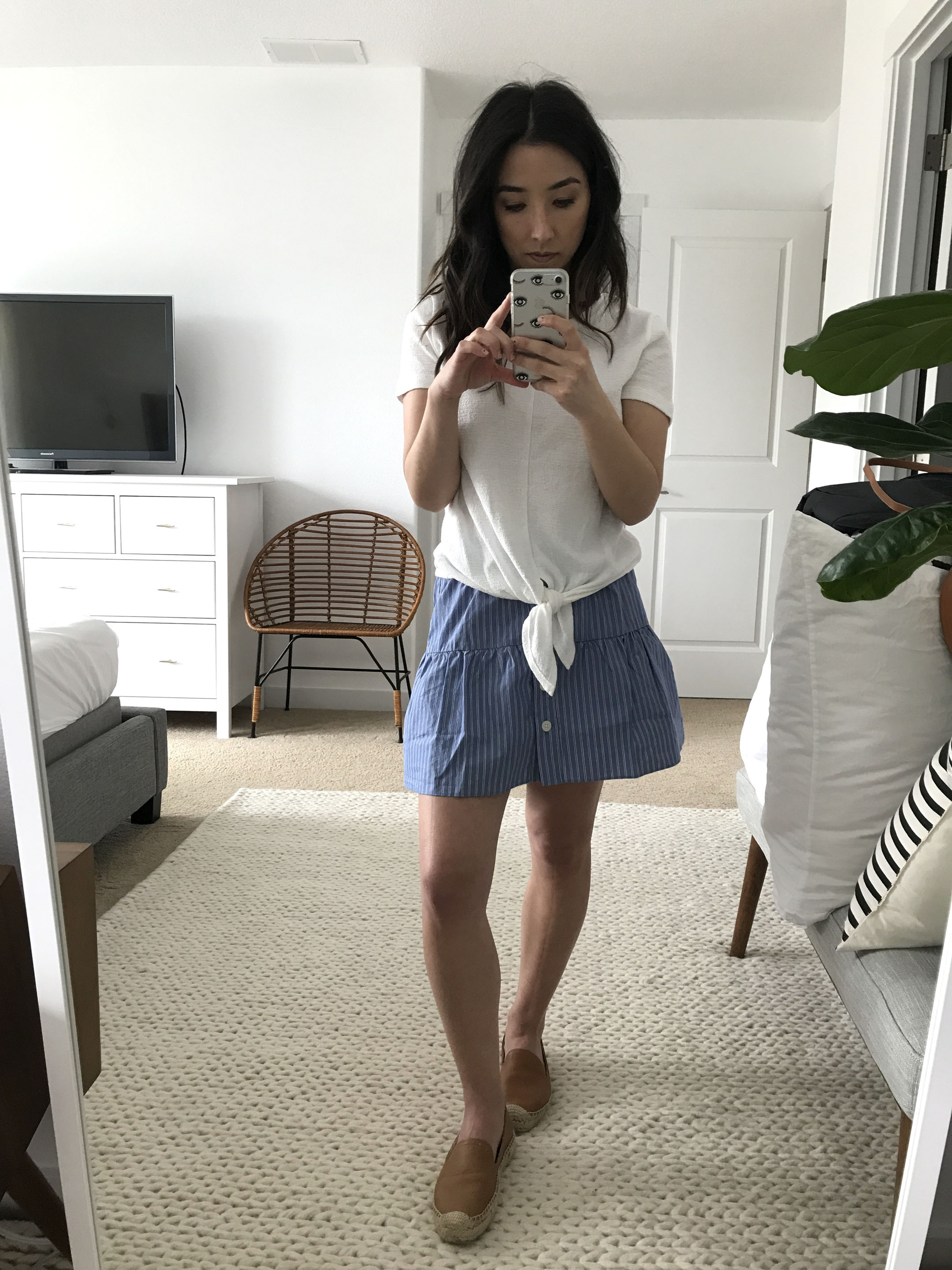 Madewell striped skirt 2