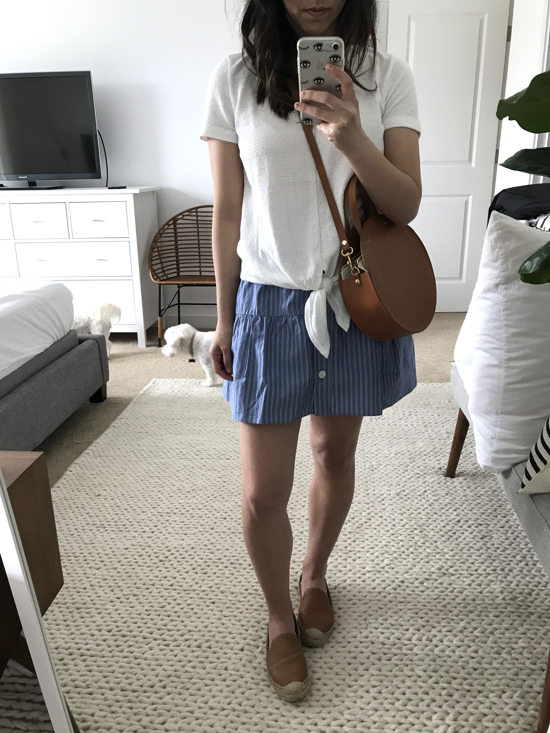 Madewell striped skirt 3