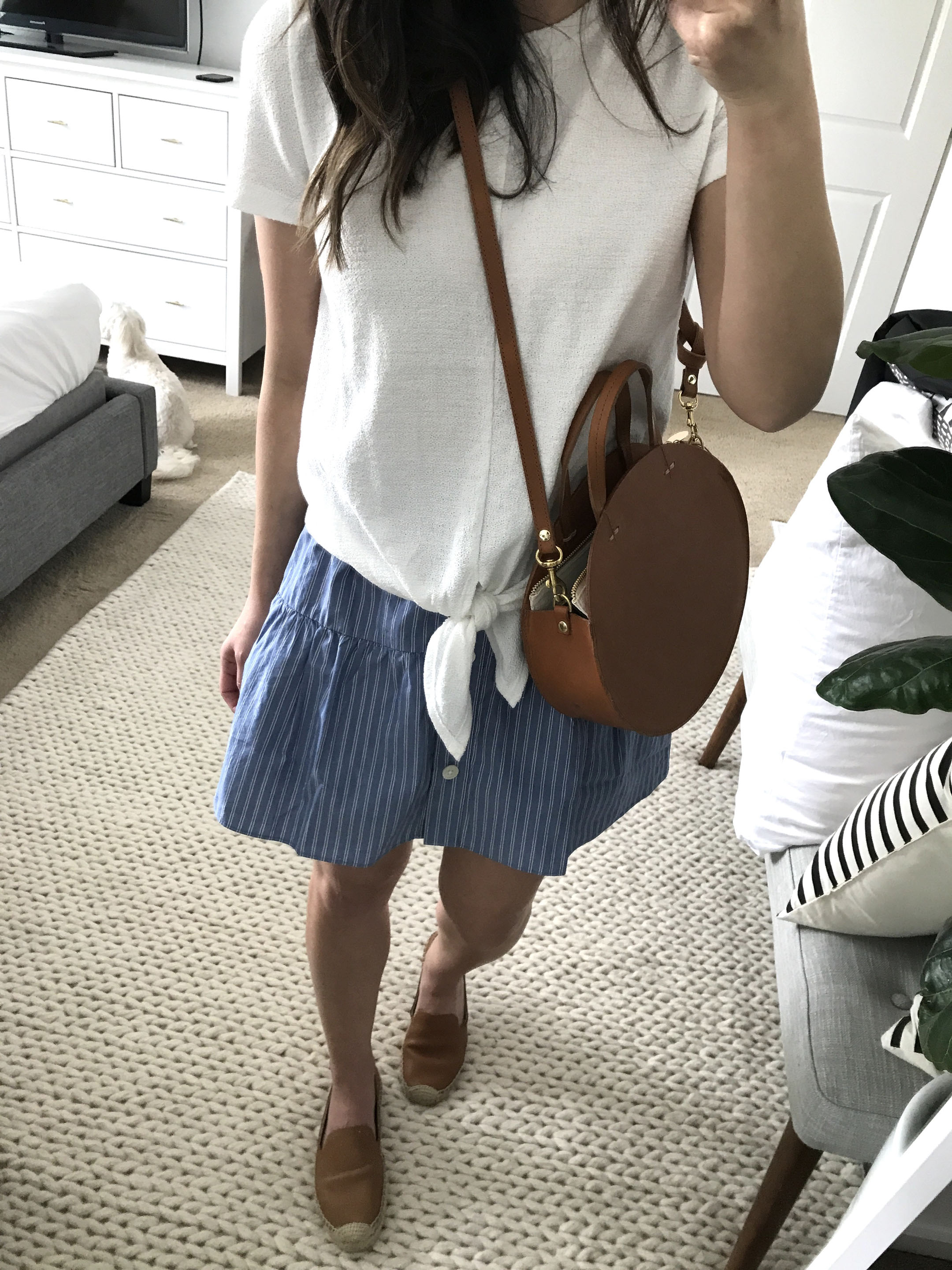 Madewell striped skirt 4