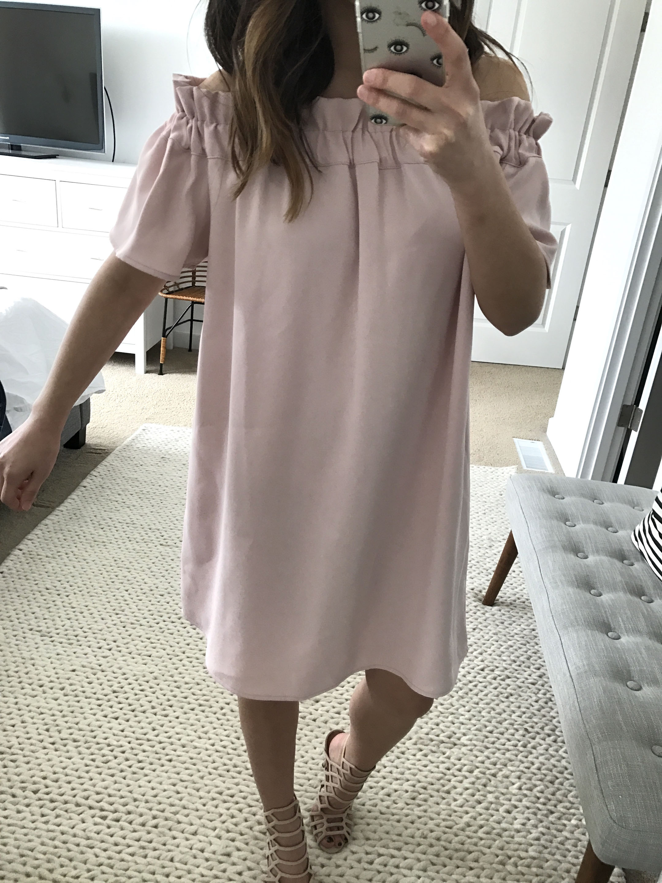 Pleione off the shoulder dress 1