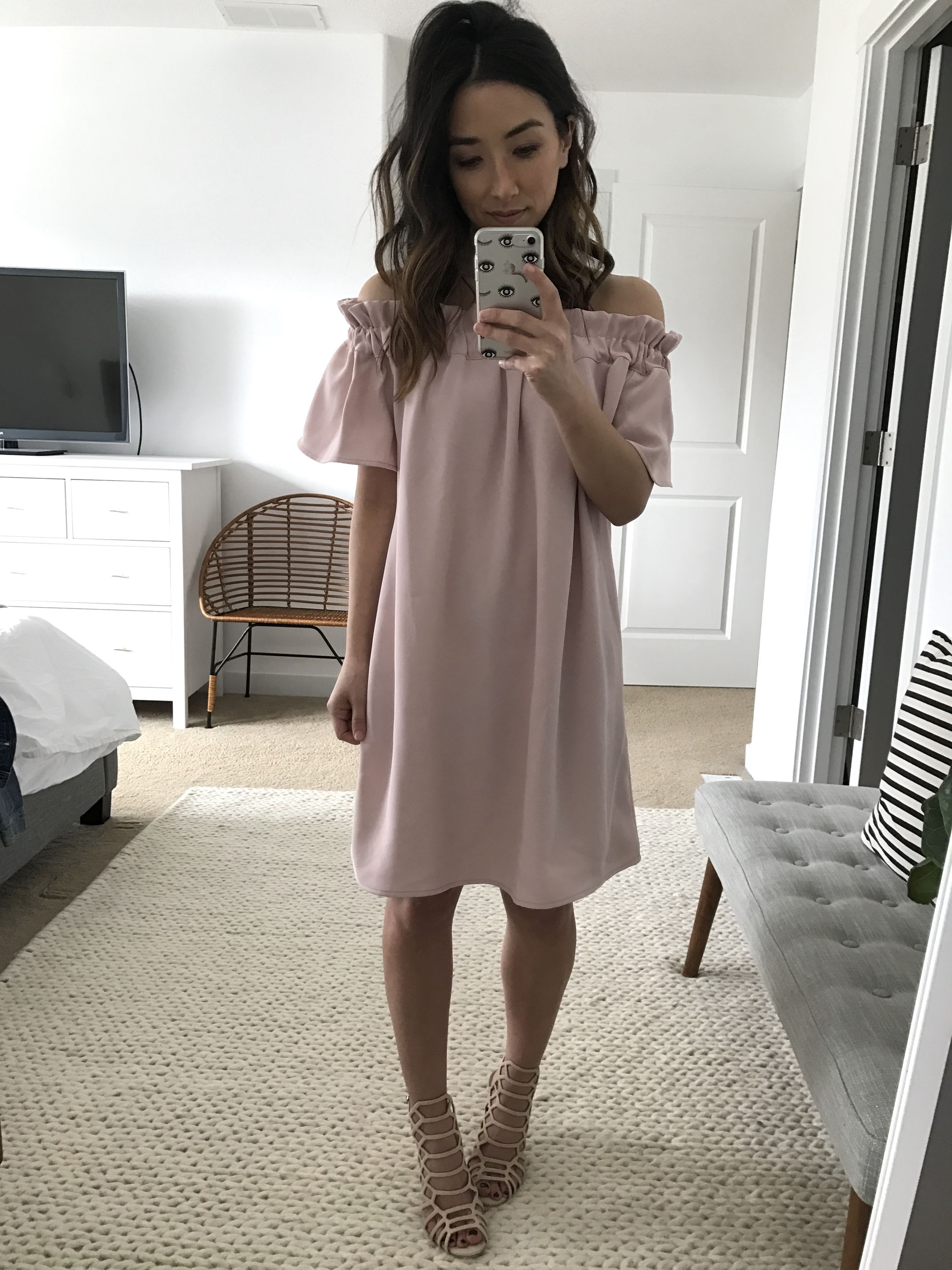 Pleione off the shoulder dress 2