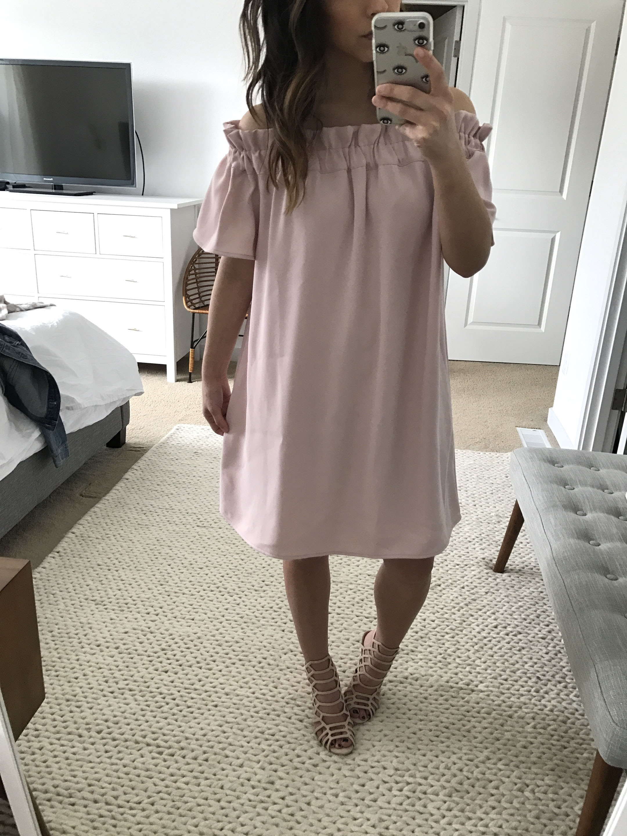 Pleione off the shoulder dress 3