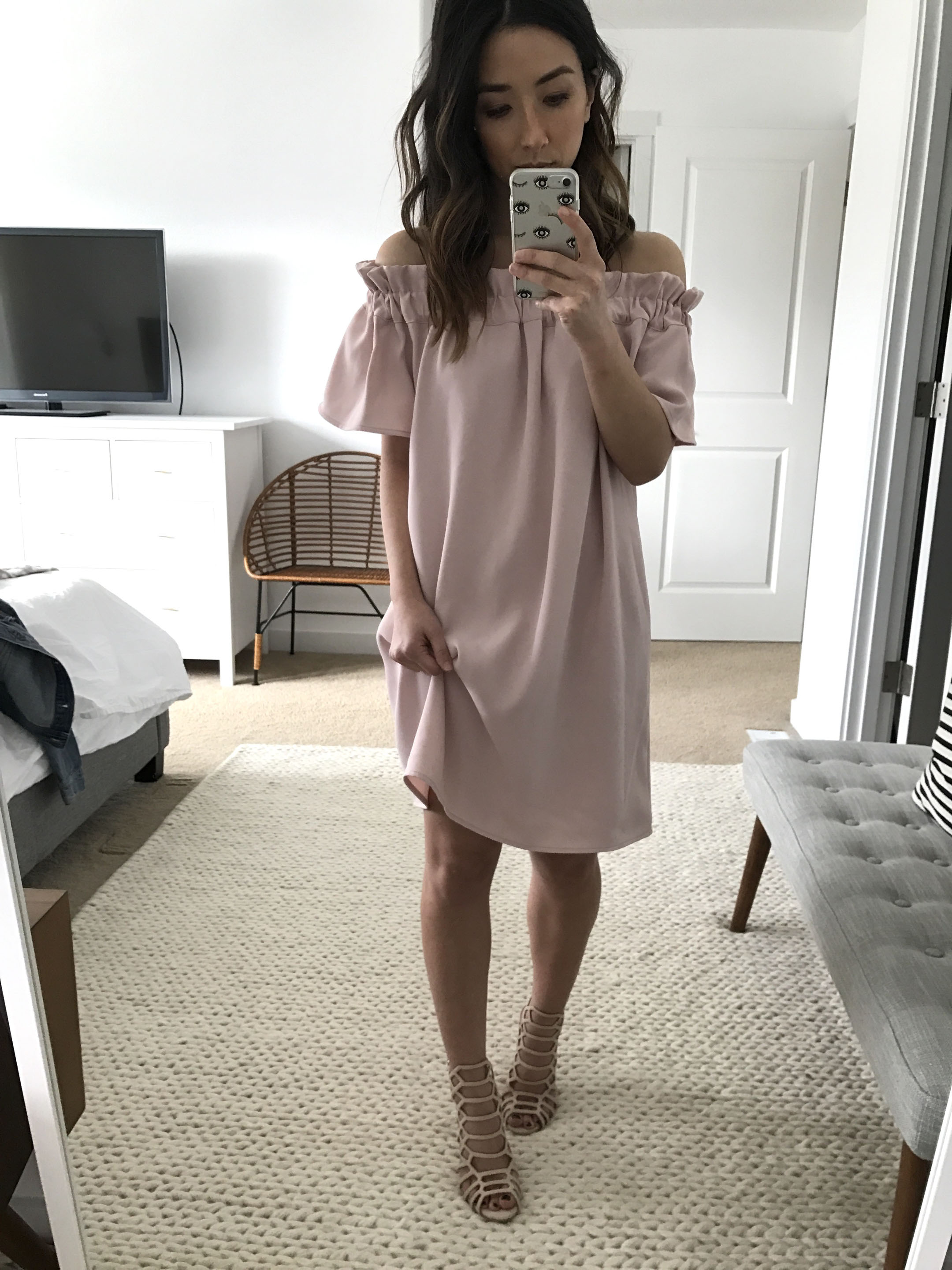 Pleione off the shoulder dress 4