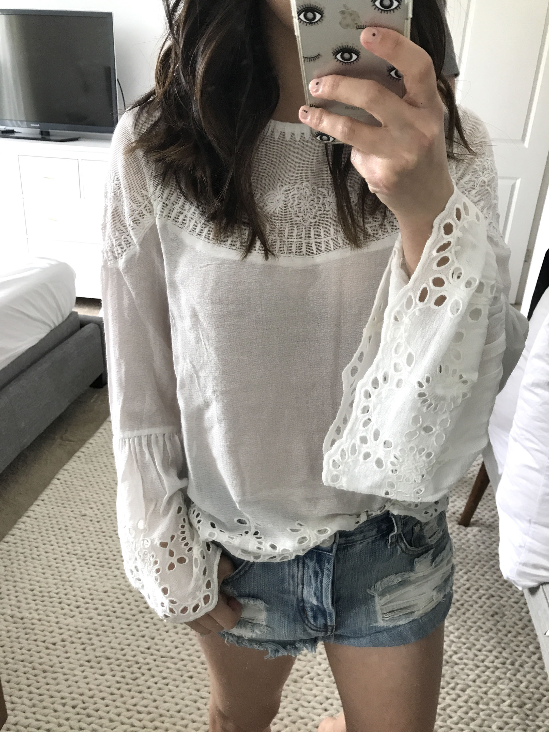 Willow & Clay embroidered top 1