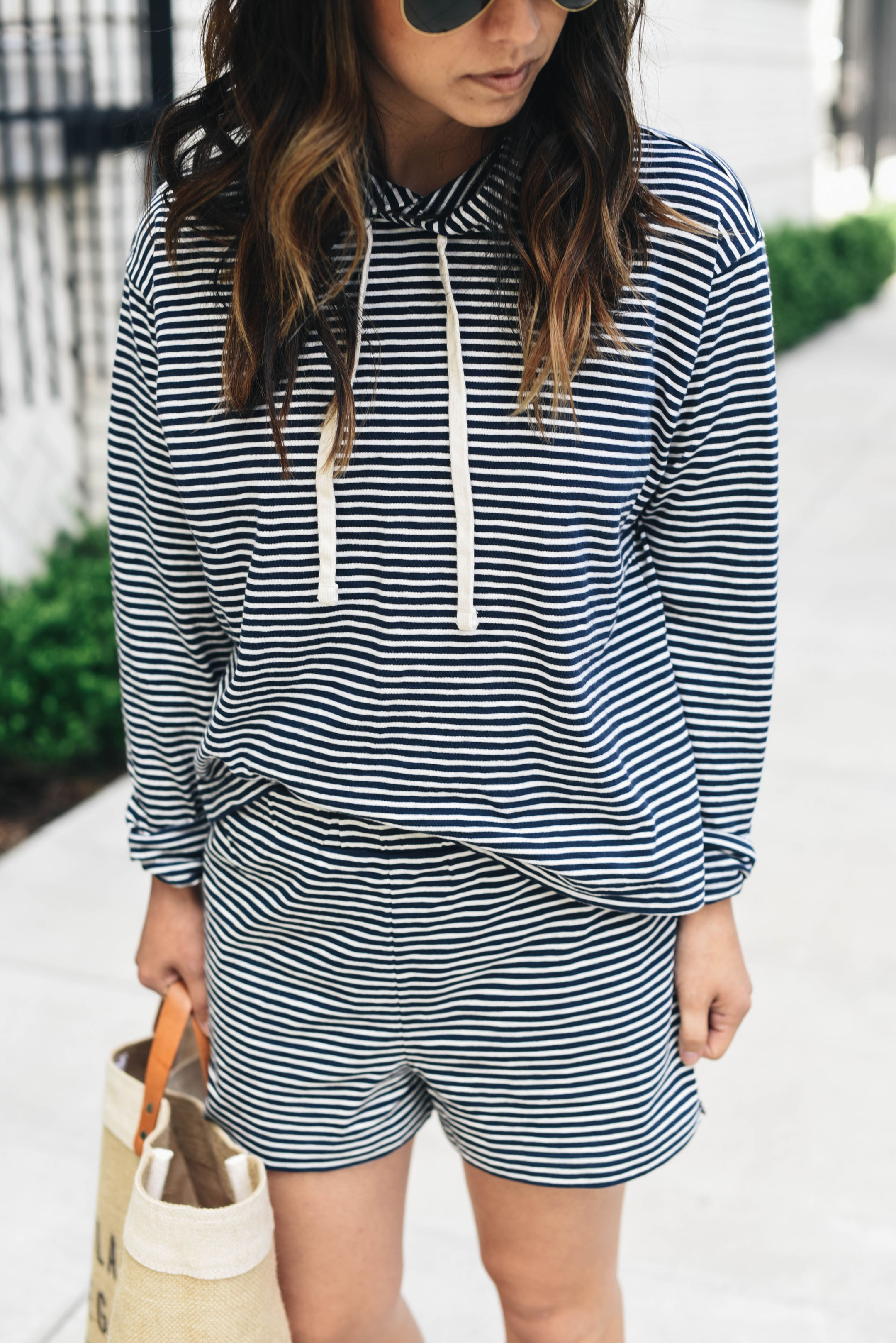 Everlane Beach striped hoodie