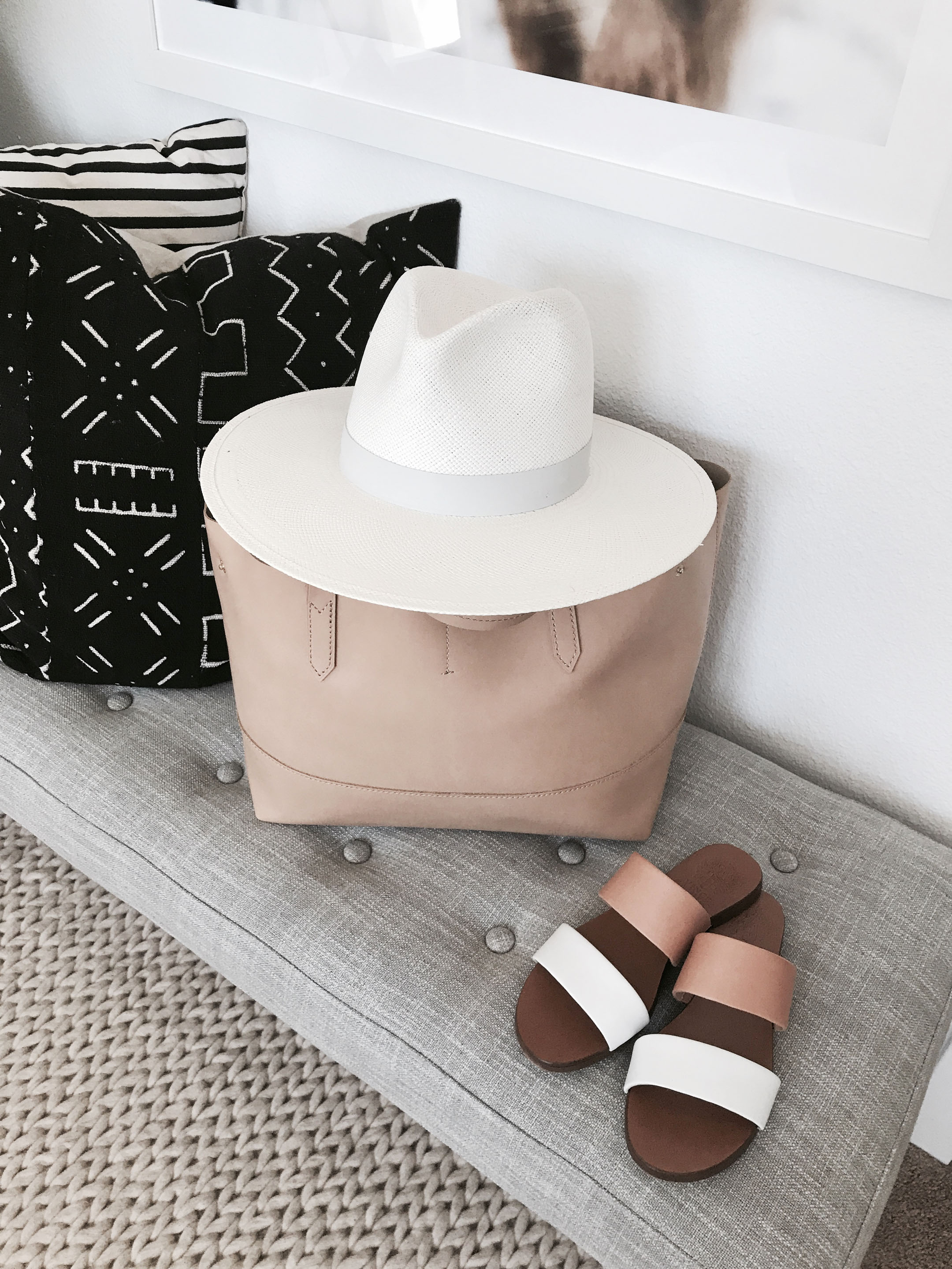 Janessa Leone white ainsley hat