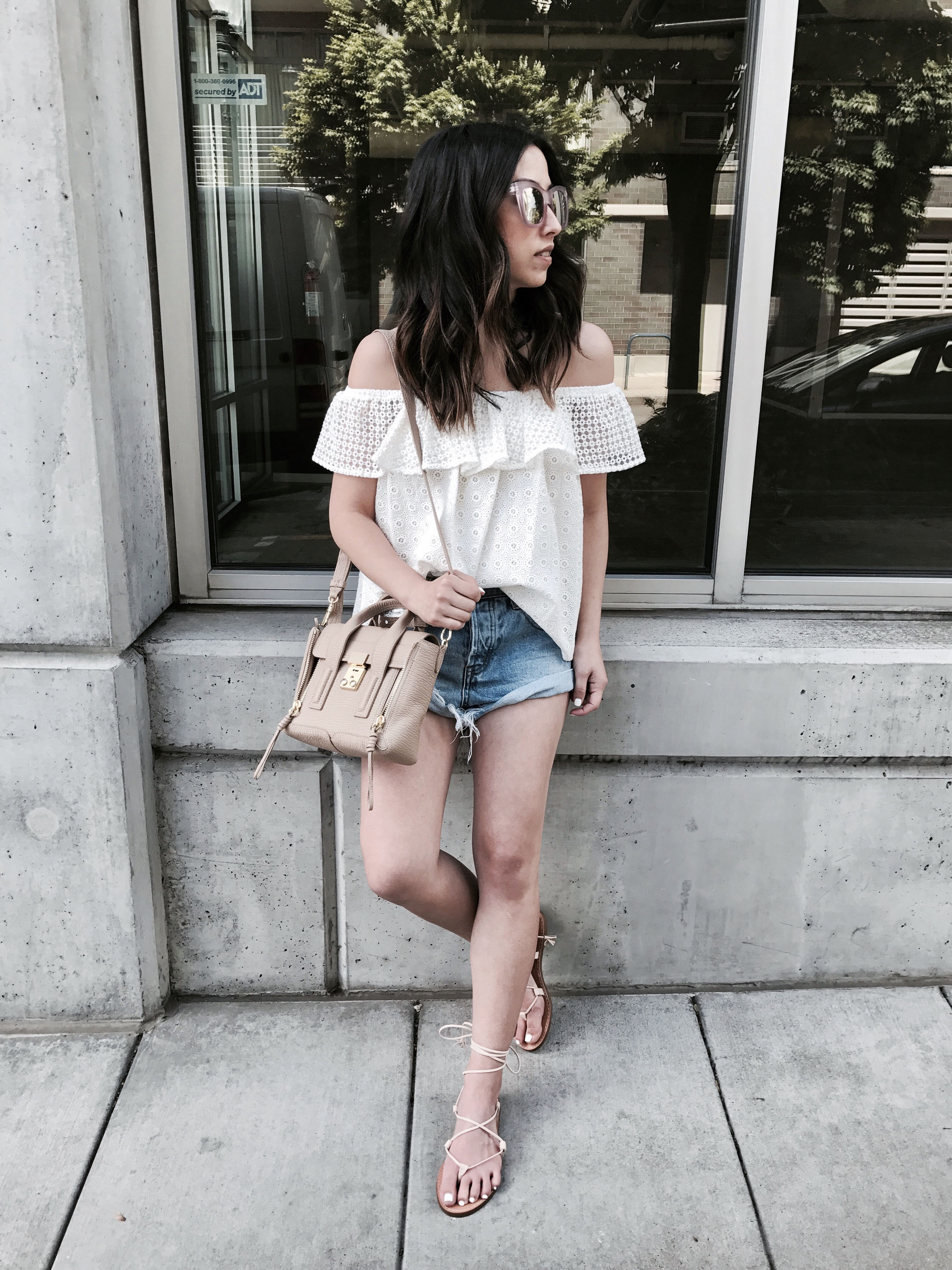 Madewell nude lace up sandals