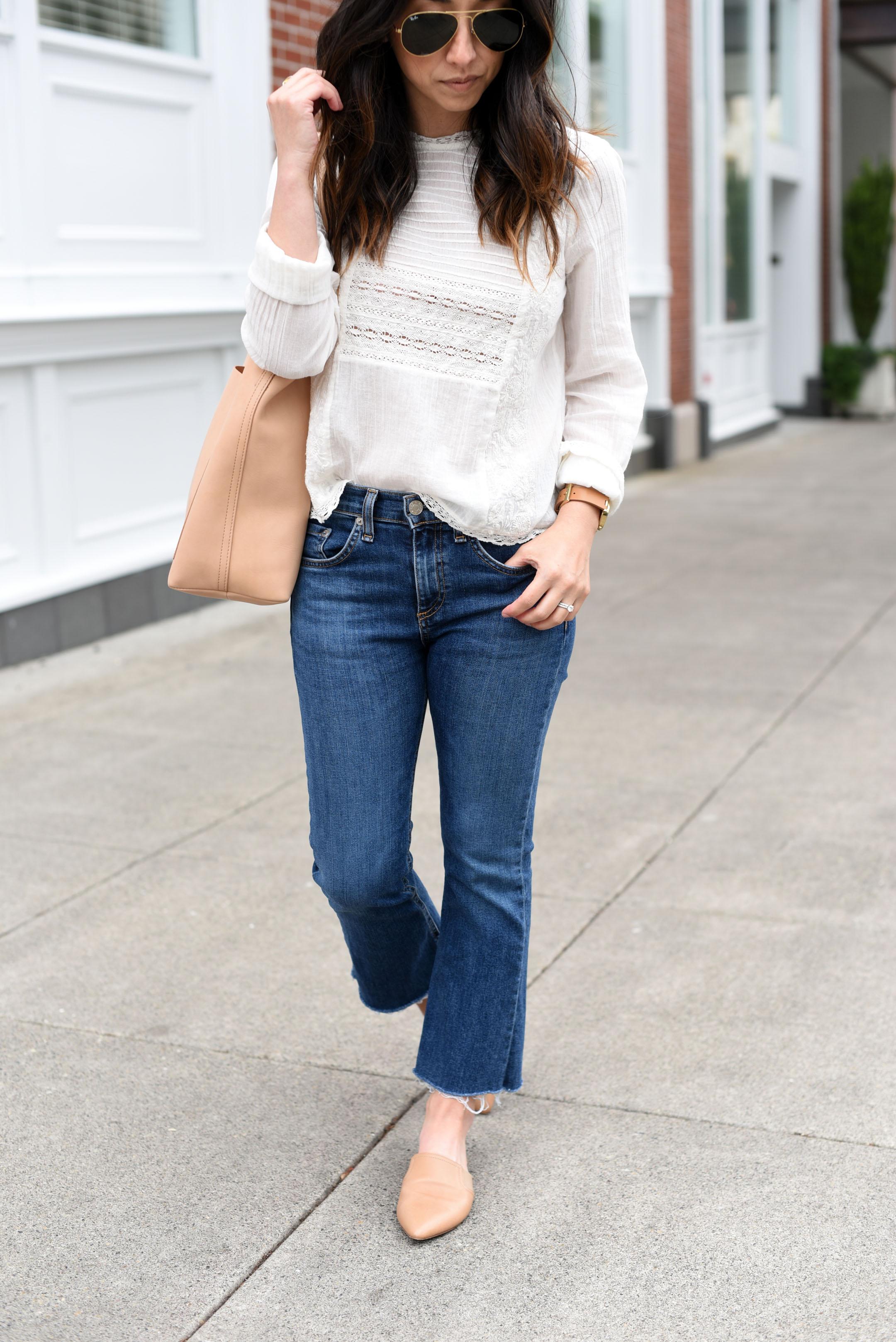 Rag & bone Cropped flar jeans