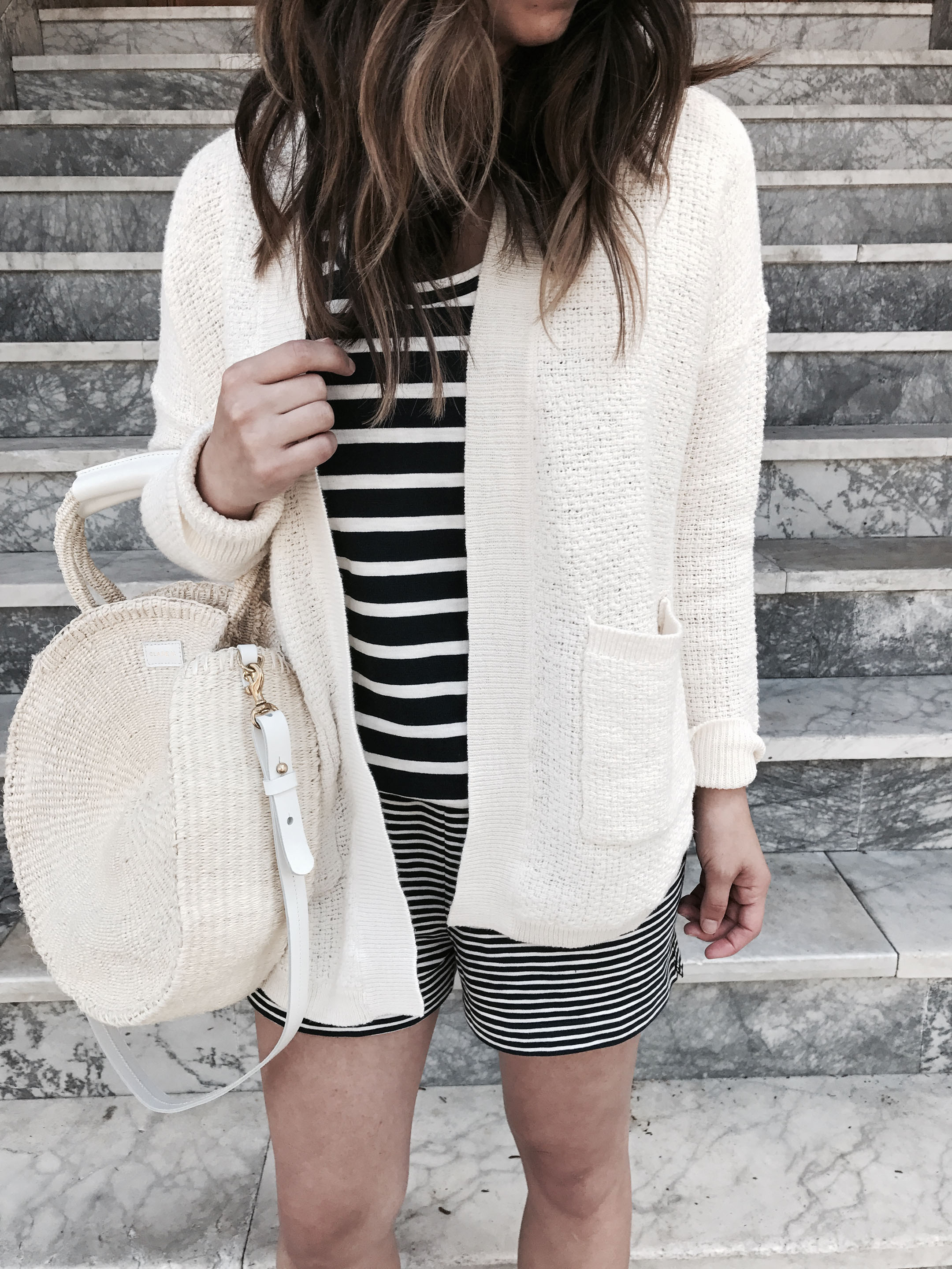 madewell cream cardigan
