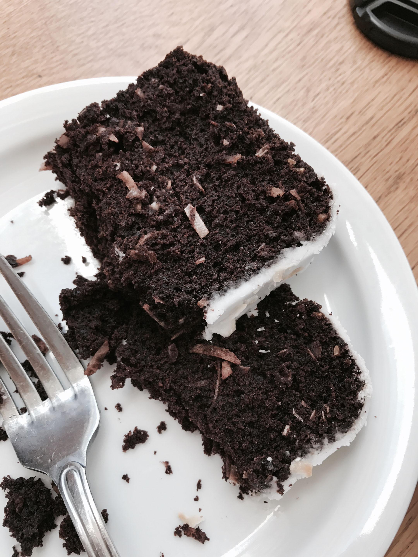 vegan chocolate coconut pound cake