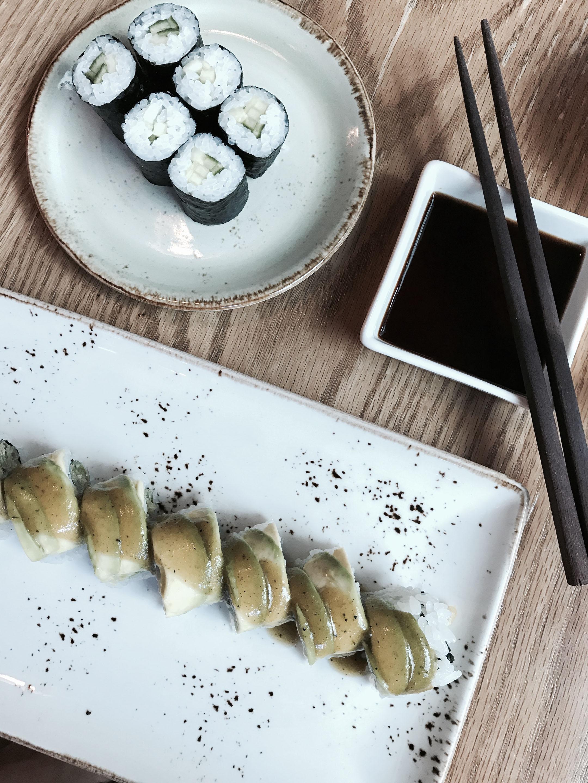 Bamboo sushi vegan roll