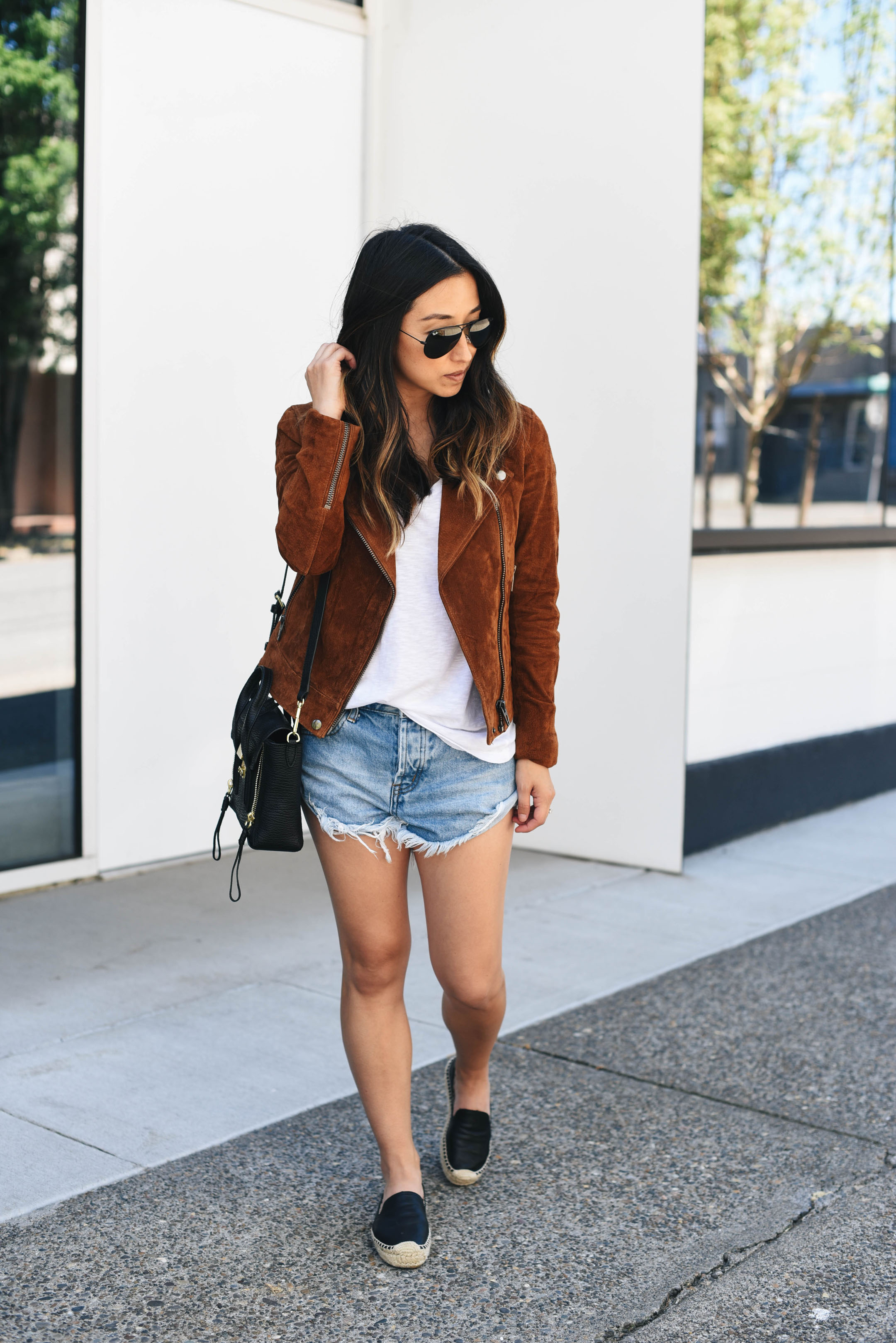 Blank NYC moto jacket in spice