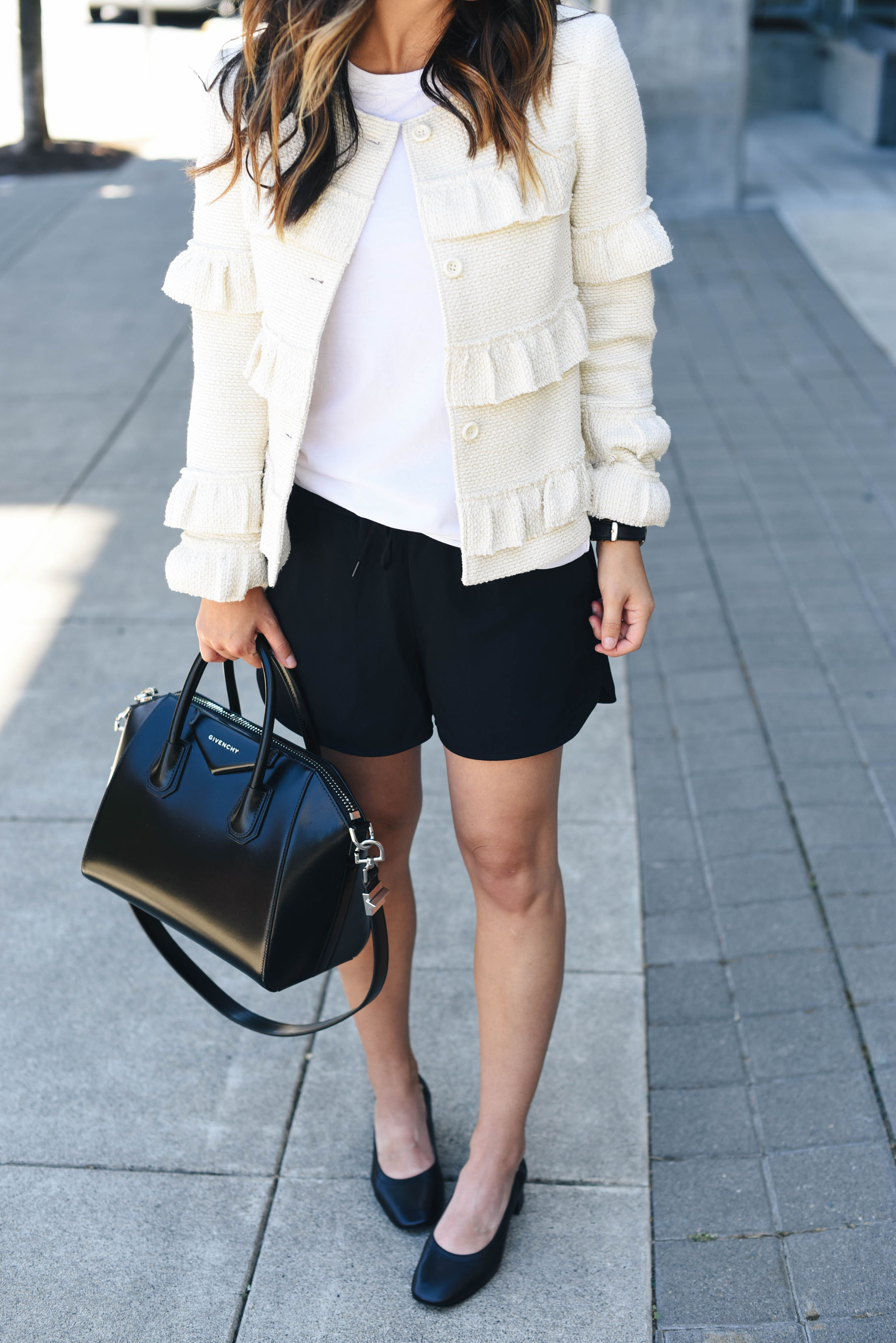 Club Monaco ruffle jacket