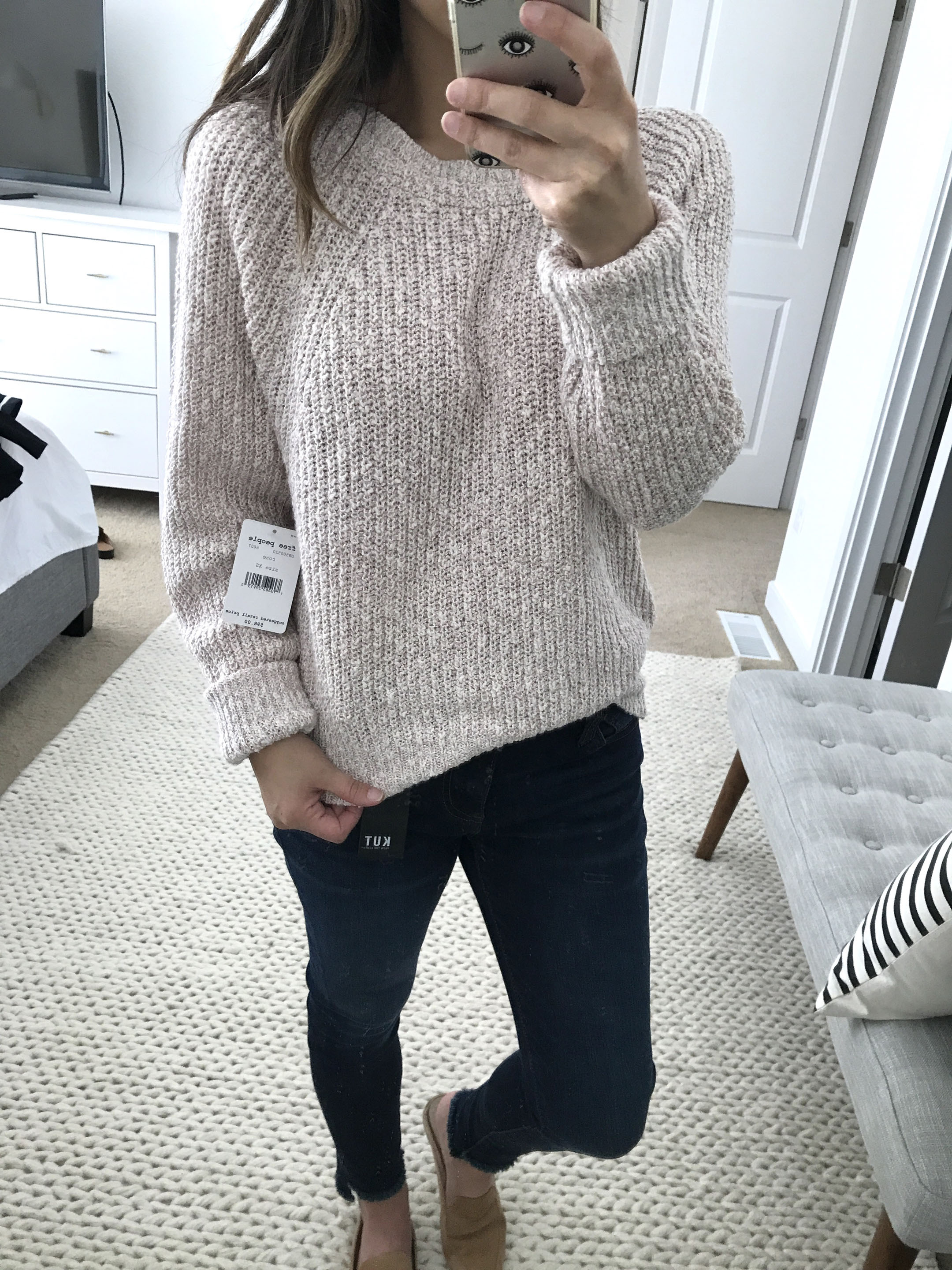 Free people rose pullover