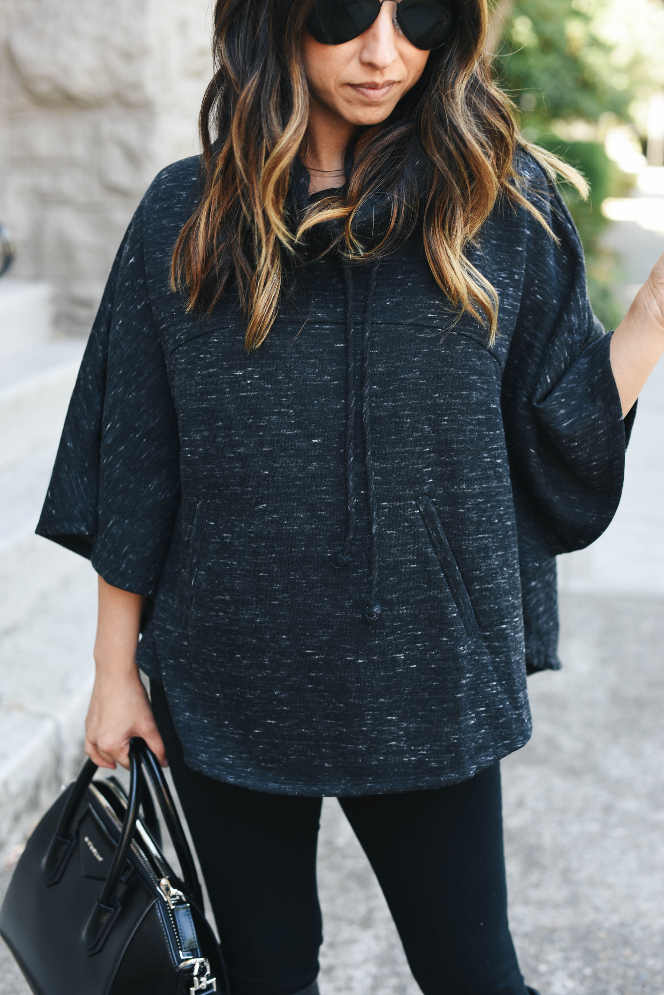 Gibson funnel neck poncho