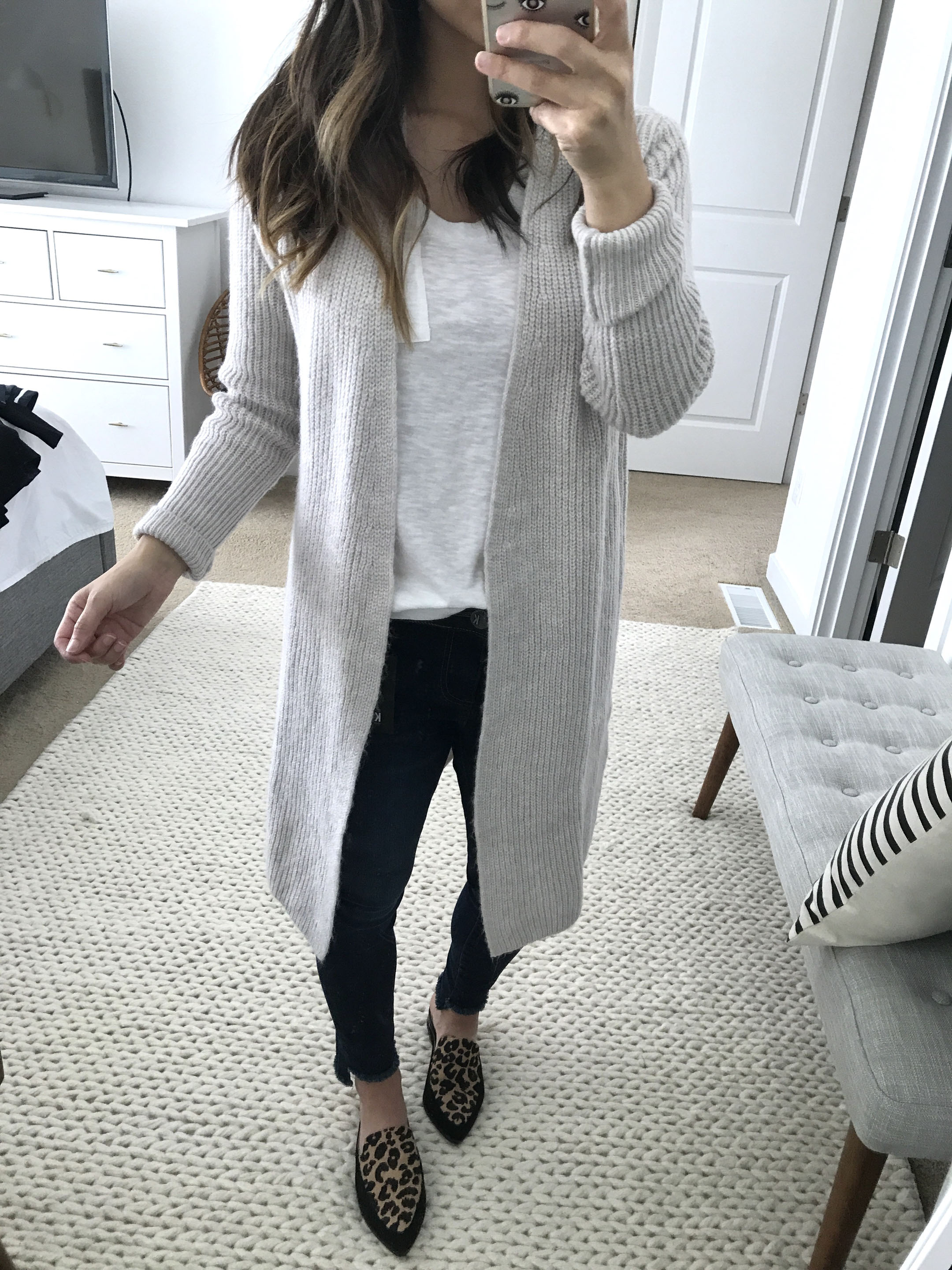 Halogen ribbed cardigan in cream