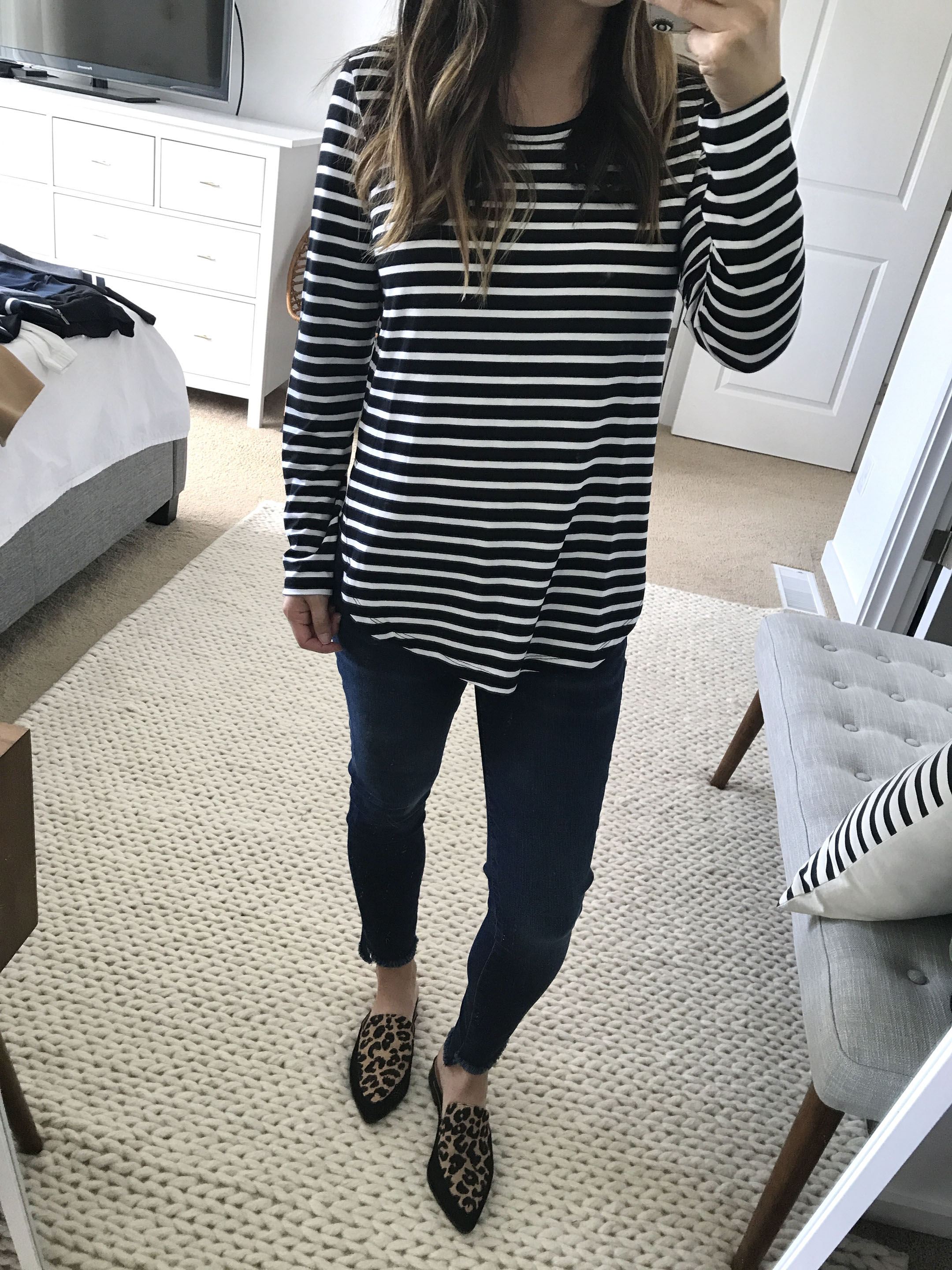 Halogen striped tunic