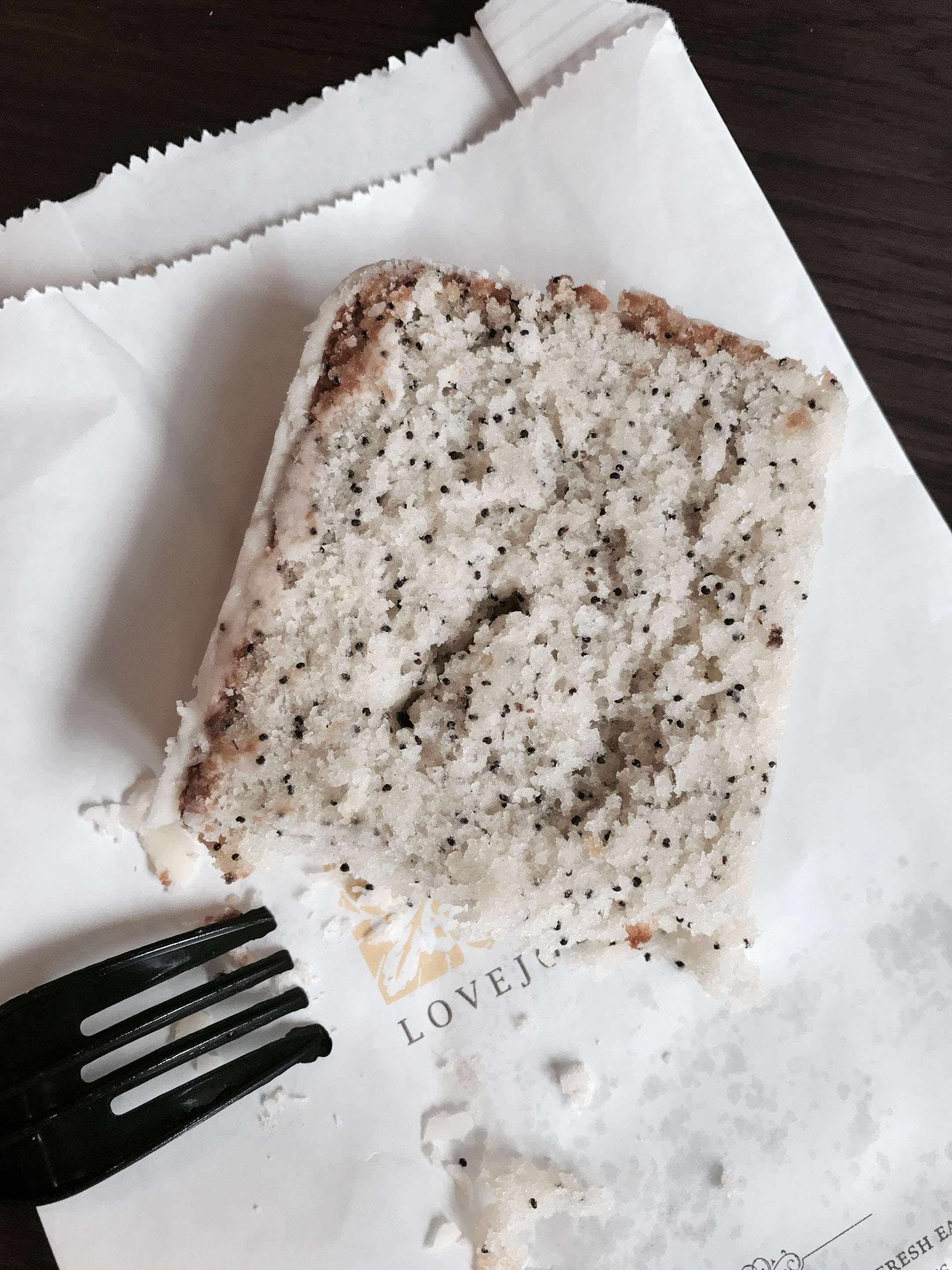 Love Joy vegan lemon poppy seed bread