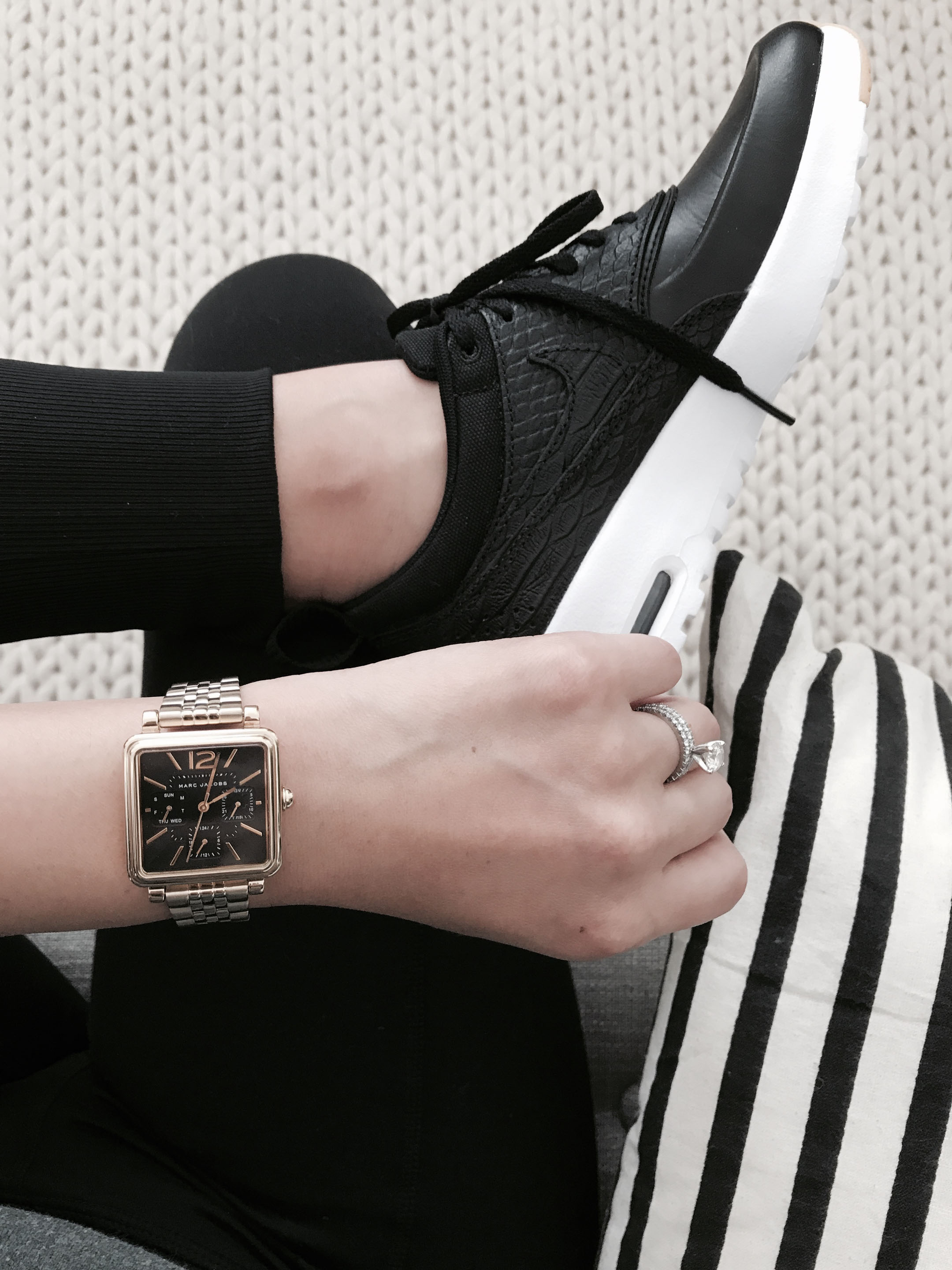 Marc Jacobs square gold watch