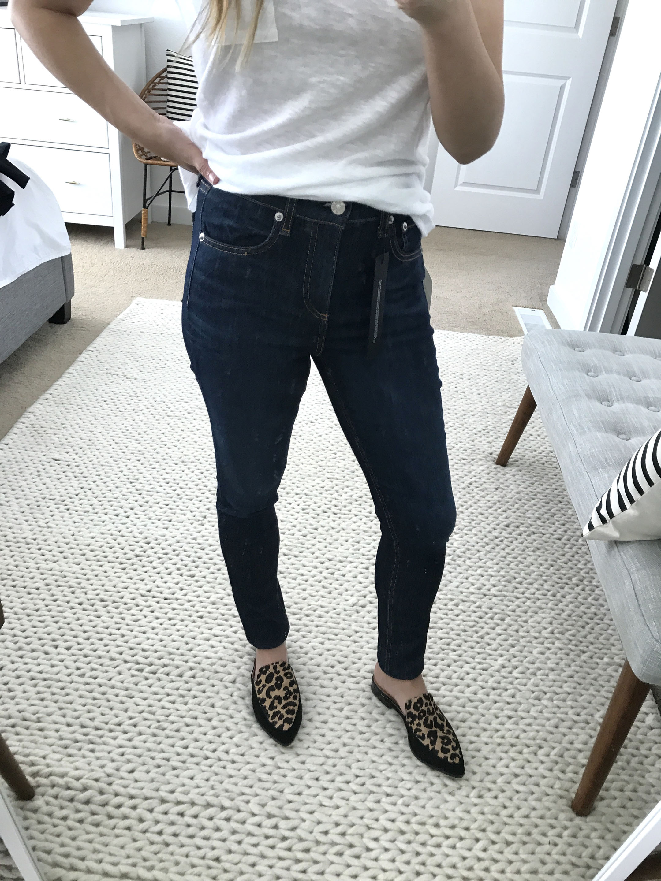 Rag & Bone high waist ankle jeans