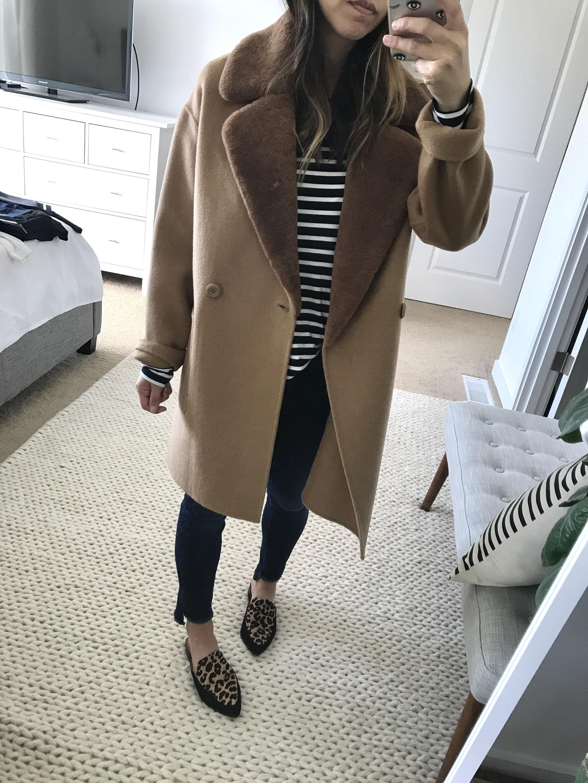 Trina Turk camel coat