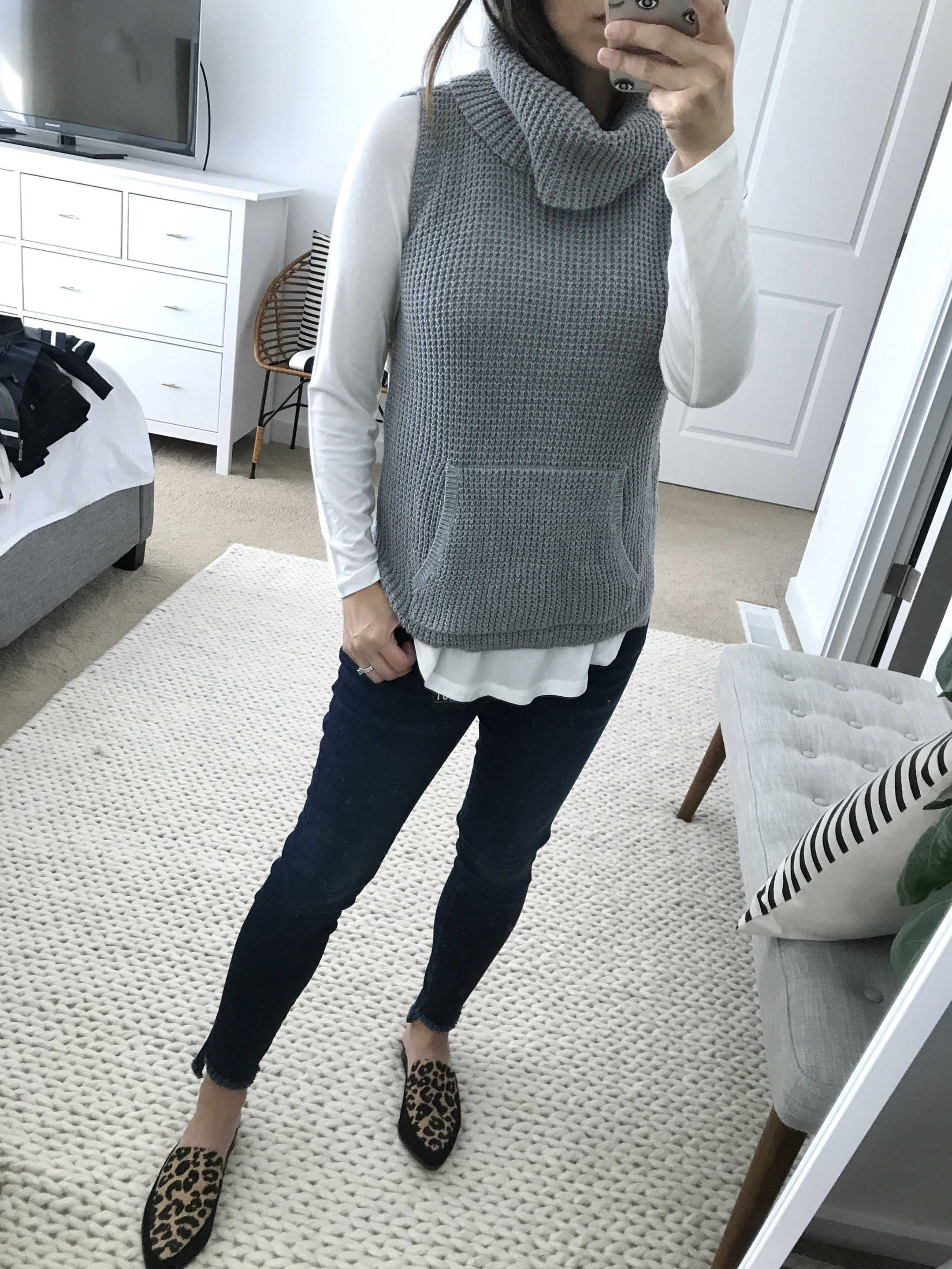 Two by vince camuto waffle sweater
