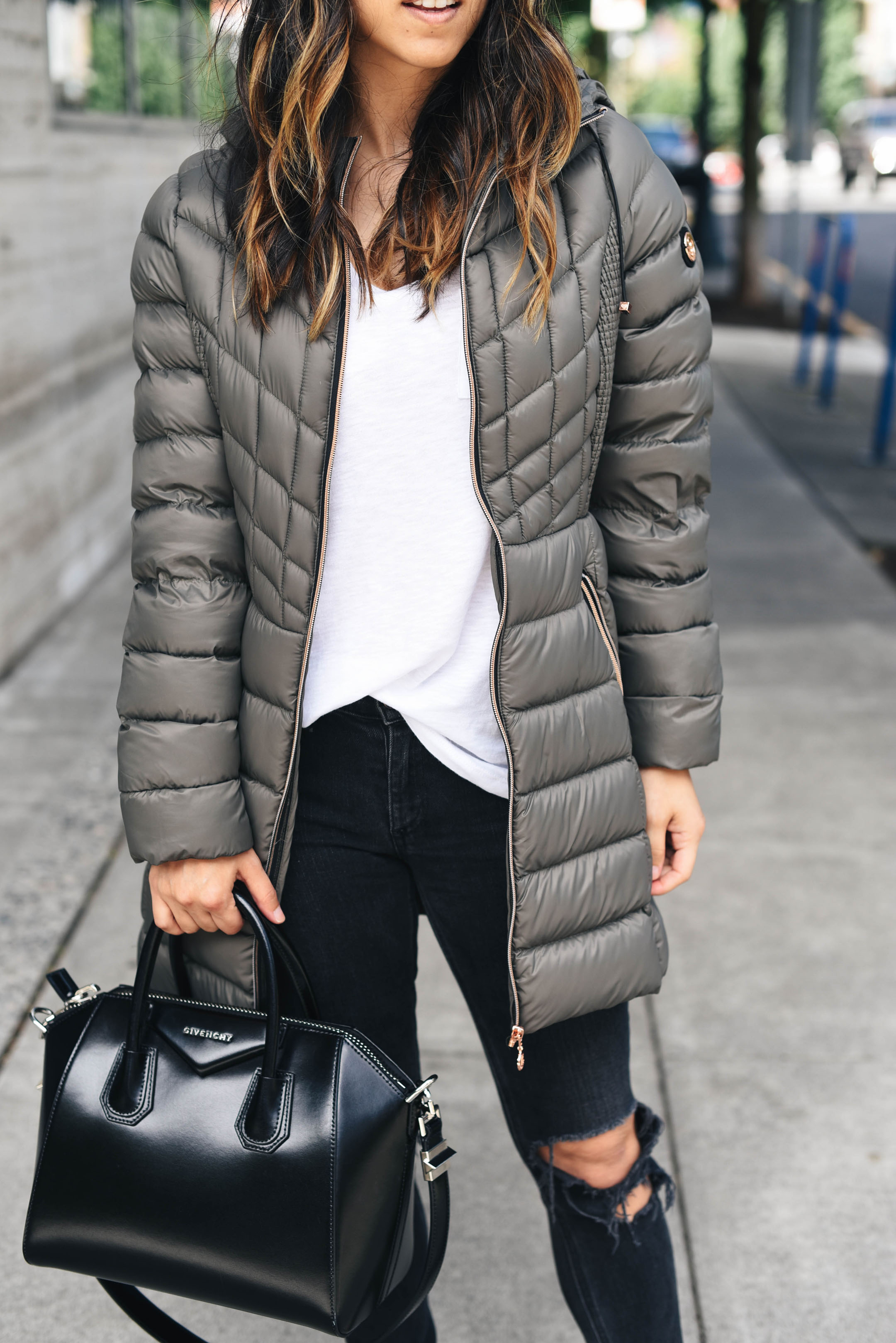 Bernardo packable coat in petite