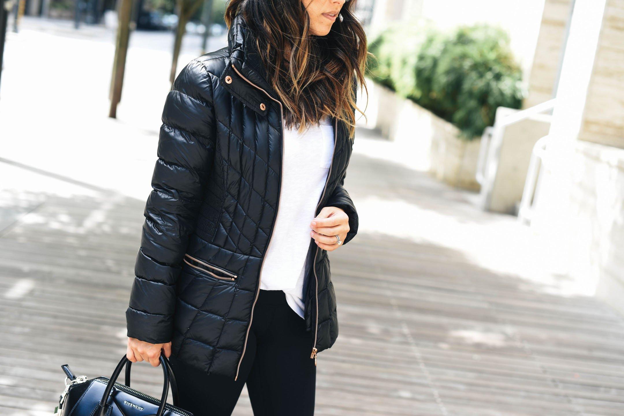 Bernardo packable jacket in petite black