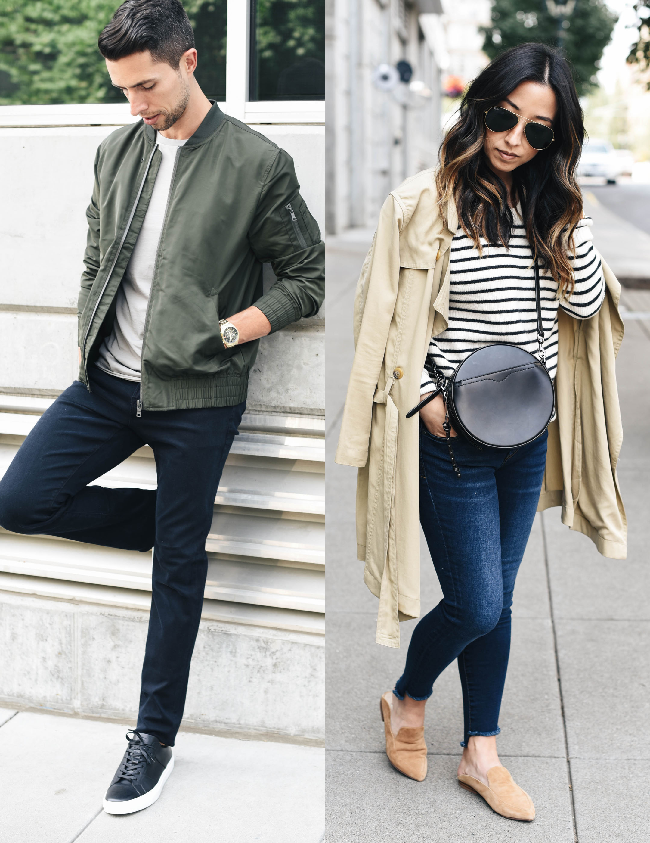 His and hers transitional looks