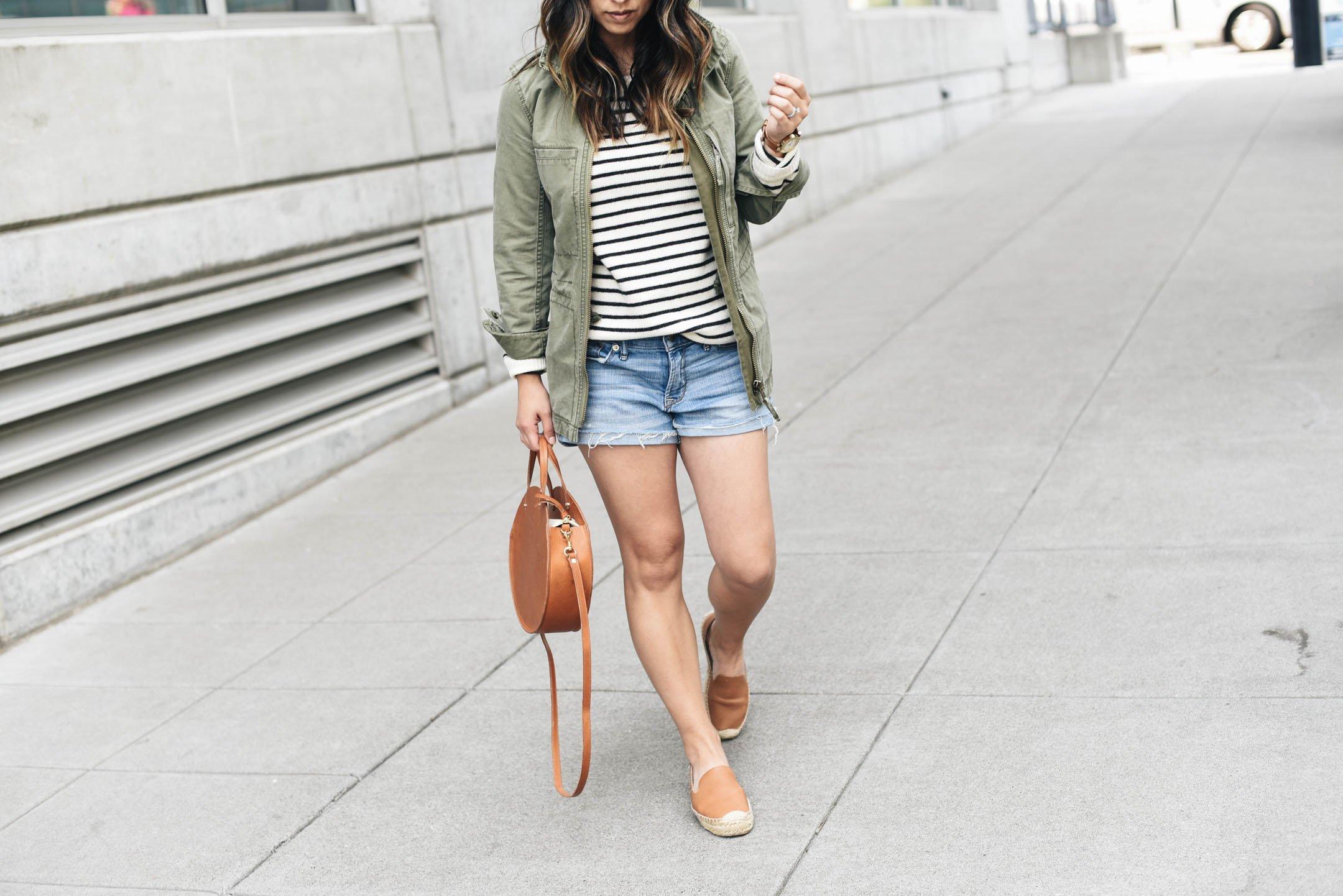 Rebecca Minkoff stripe cashmere sweater