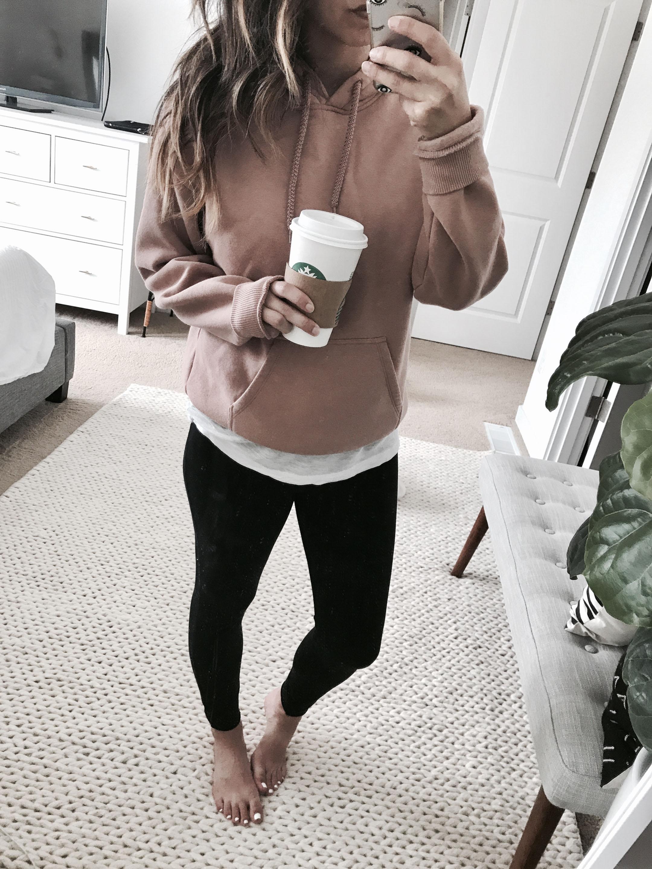 Topshop blush hoodie