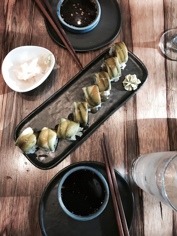 Vegan roll Bamboo sushi