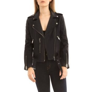 Bagatelle leather moto jacket