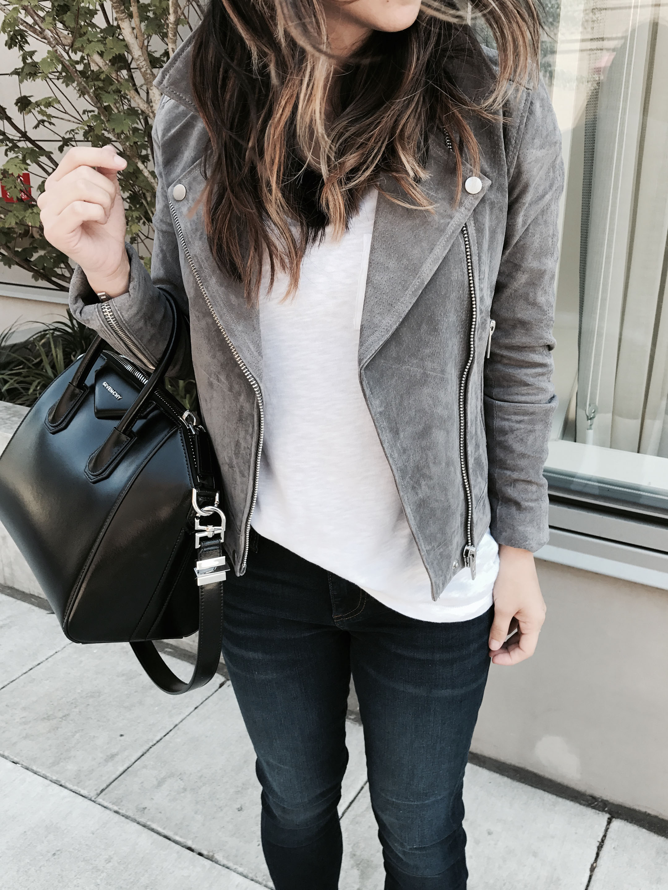 Blank NYC gray moto jacket