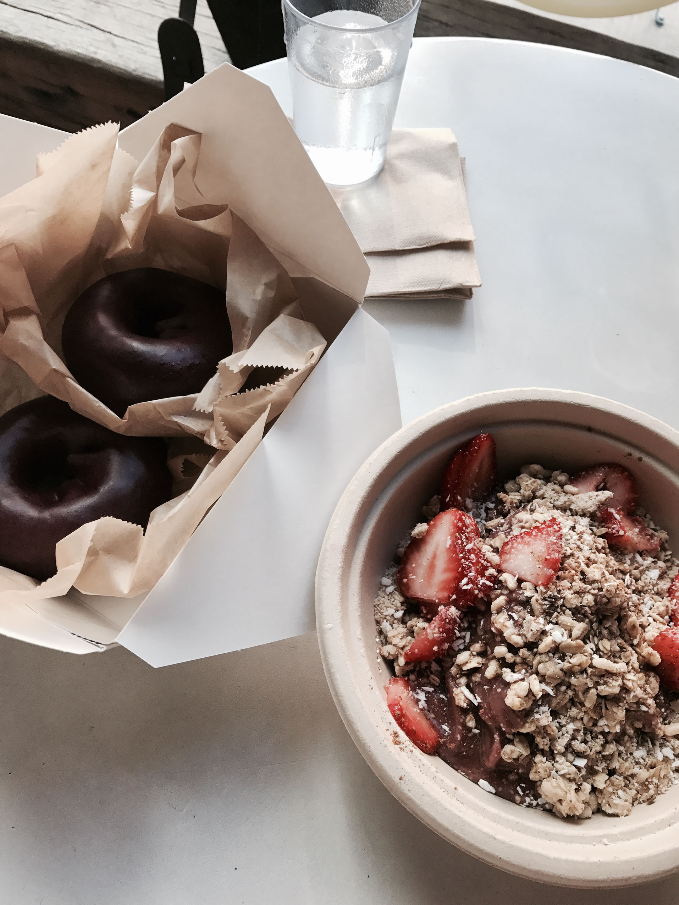 Blue star donuts and Kure Acai bowls