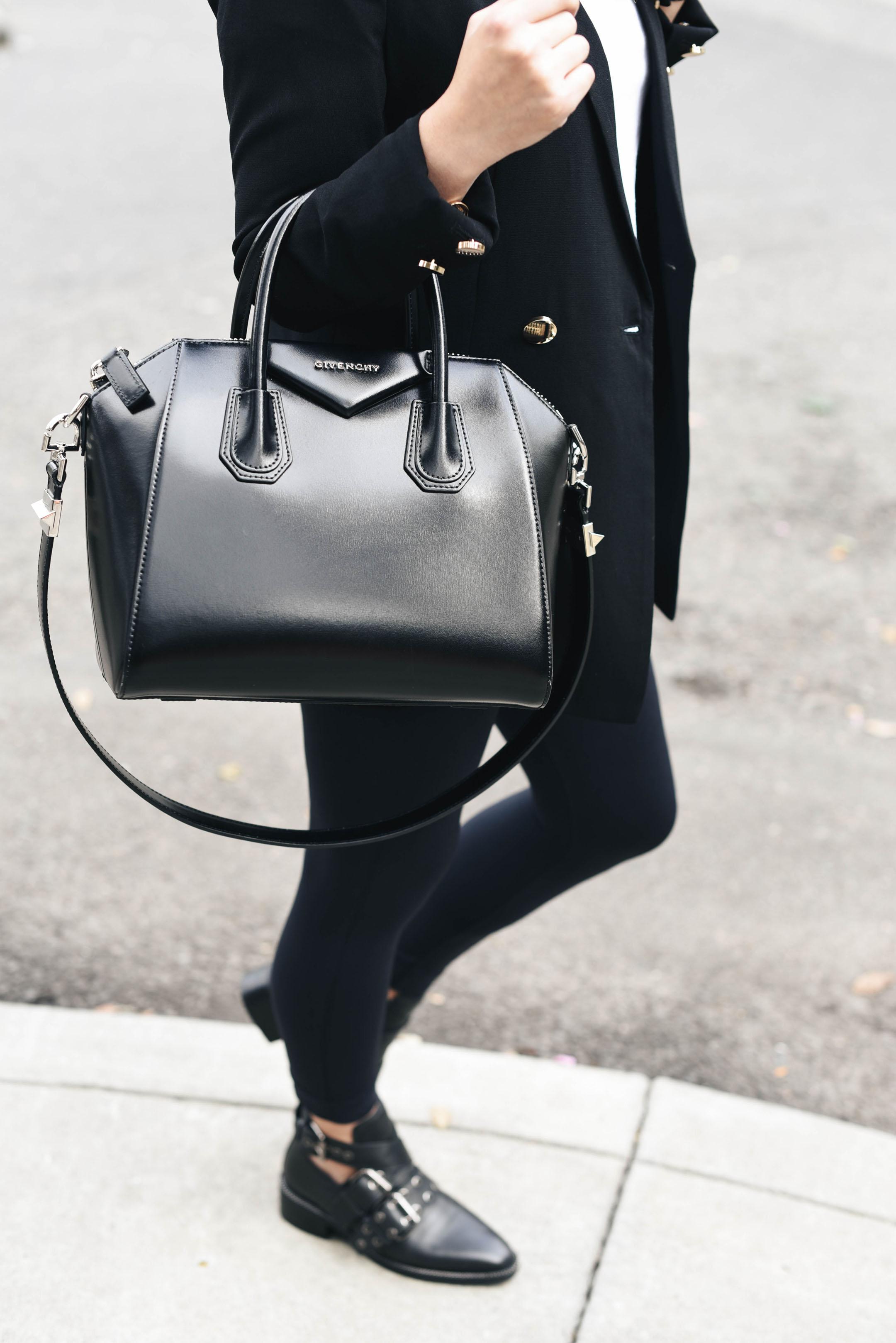 Givenchy black small antigona satchel
