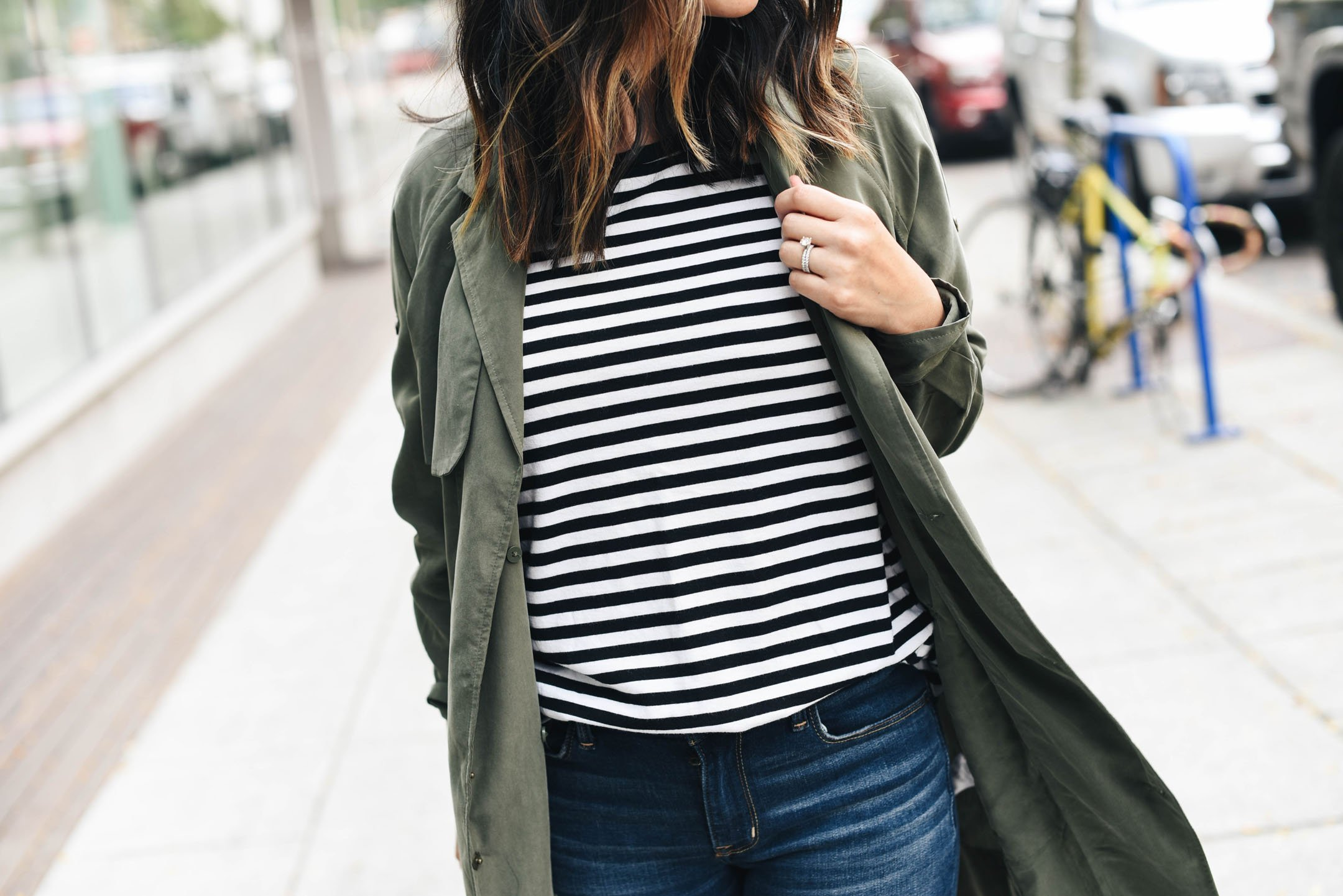 How to style a drape front trench coat