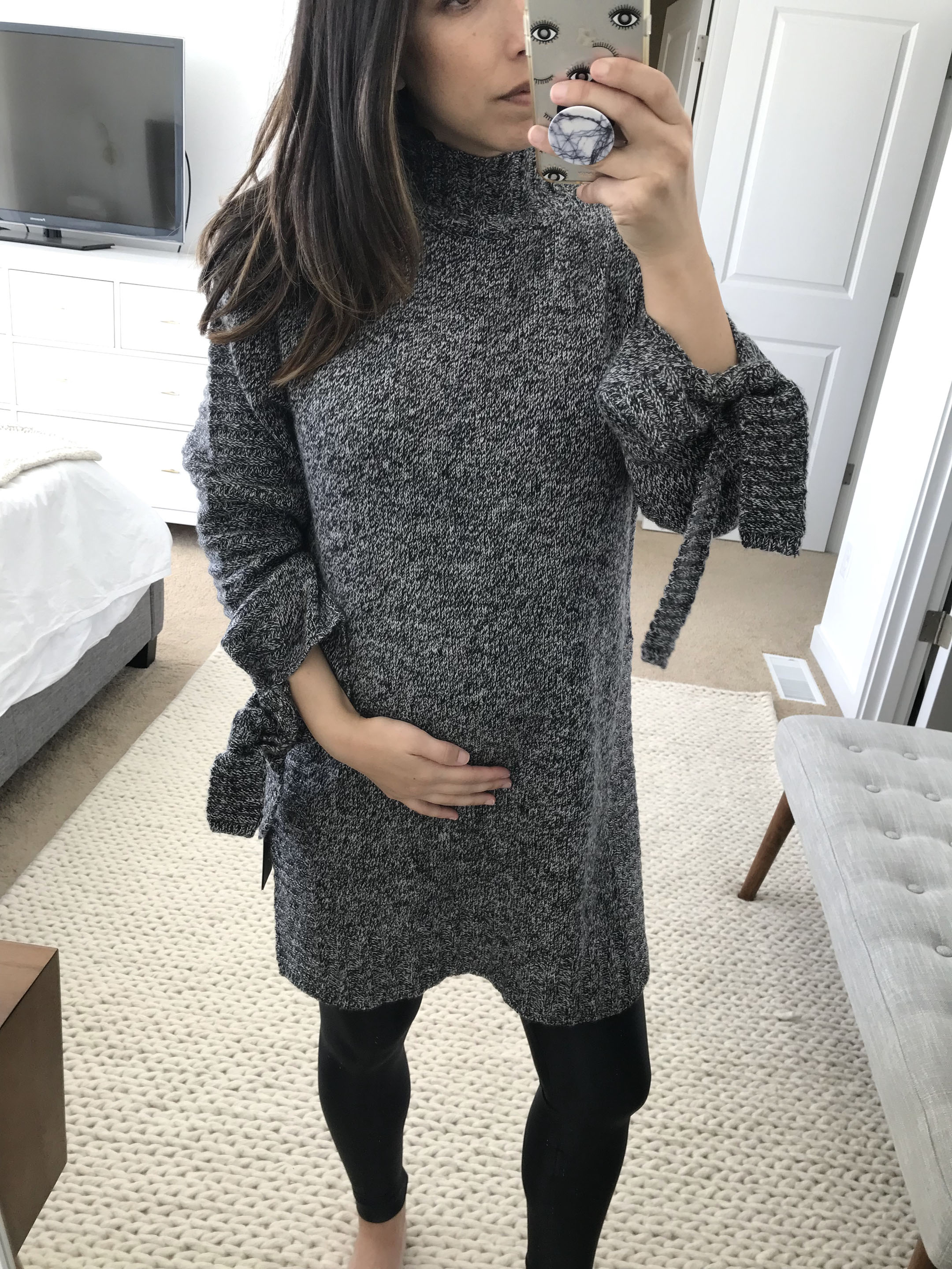 Moon River Tie Tunic Sweater 2