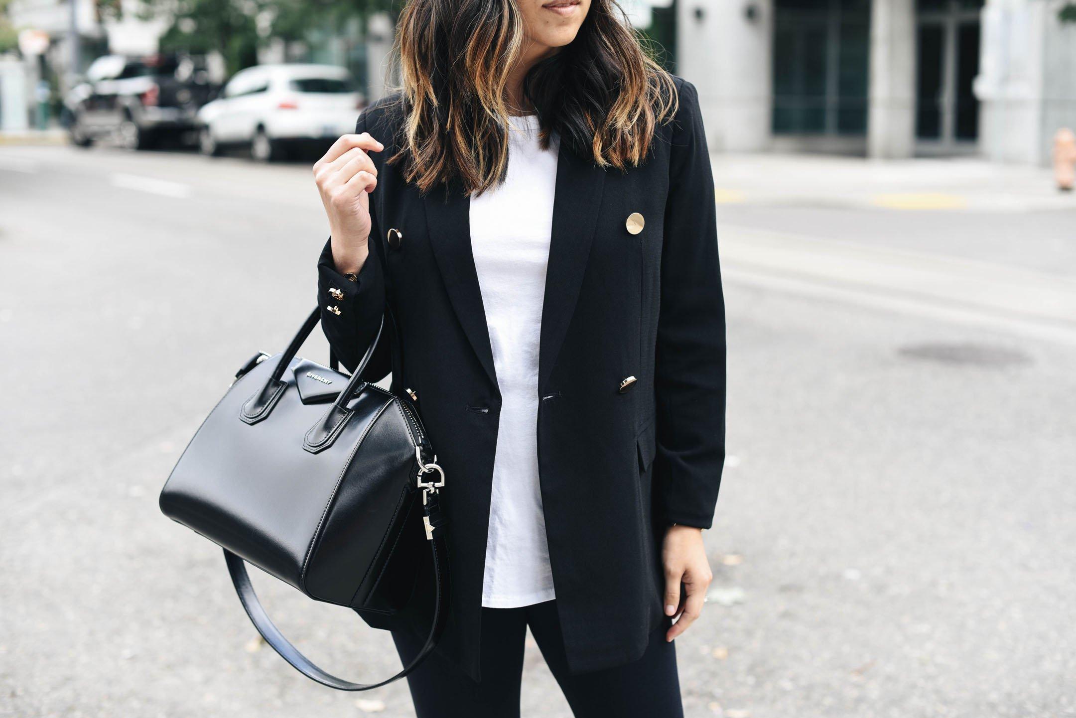Mural black blazer styled