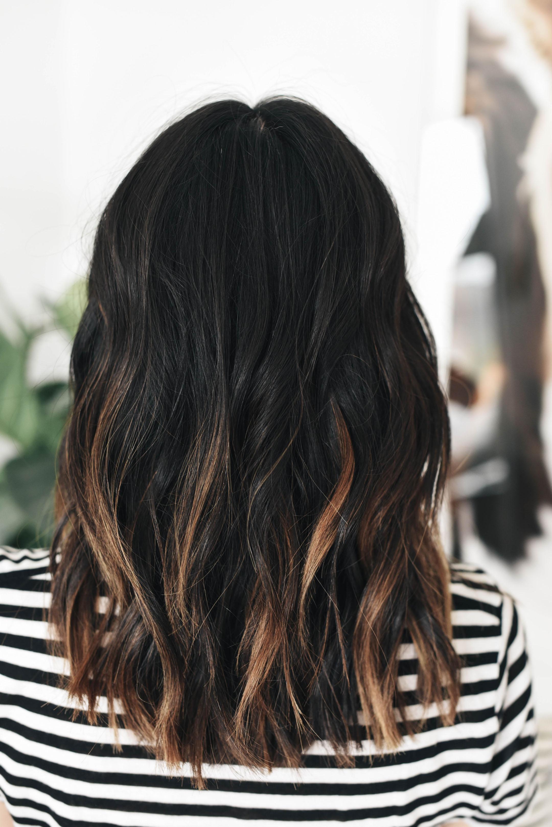 темные концы средних волос фото предлагают