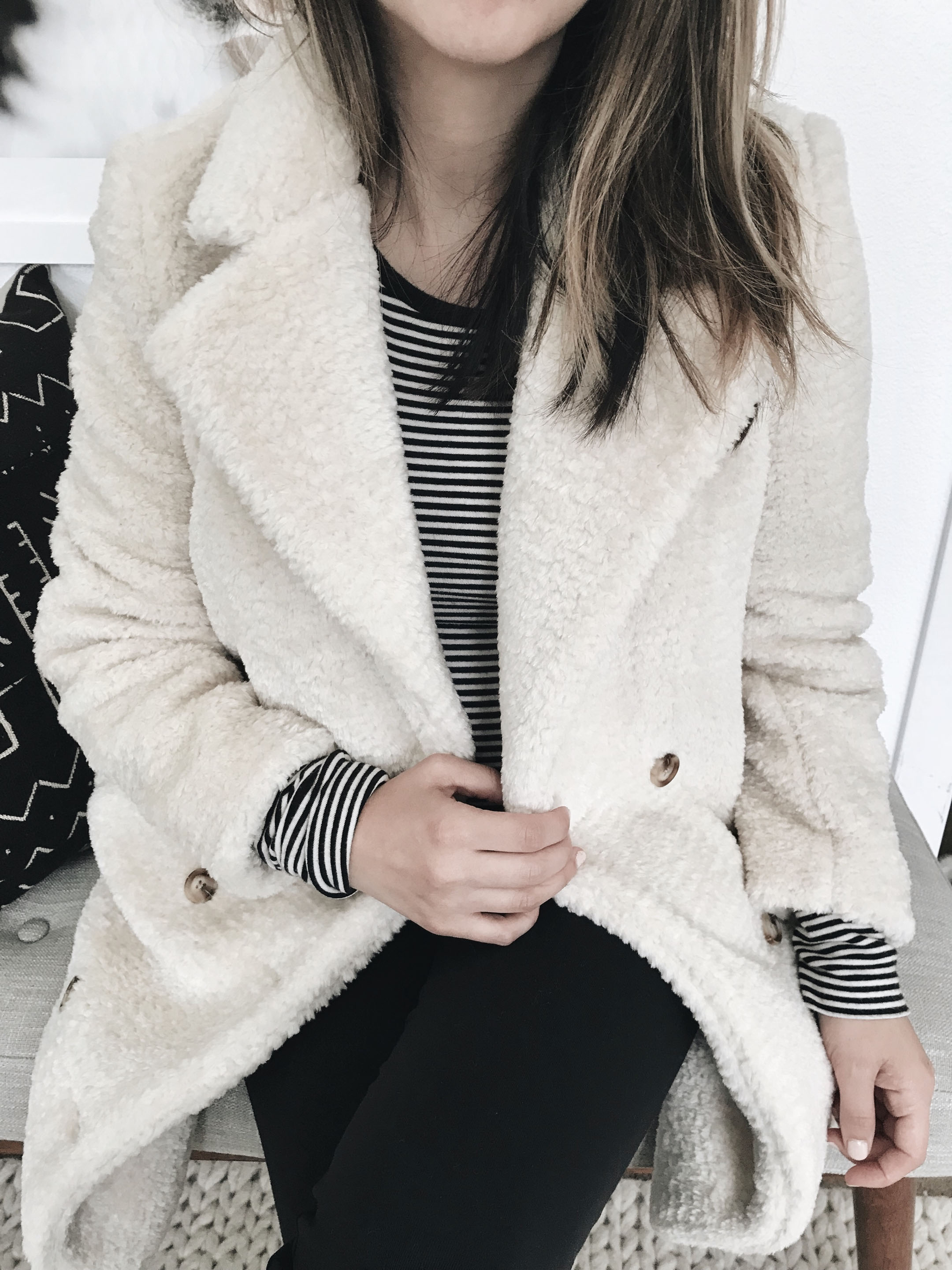 Anthropologie teddy coat