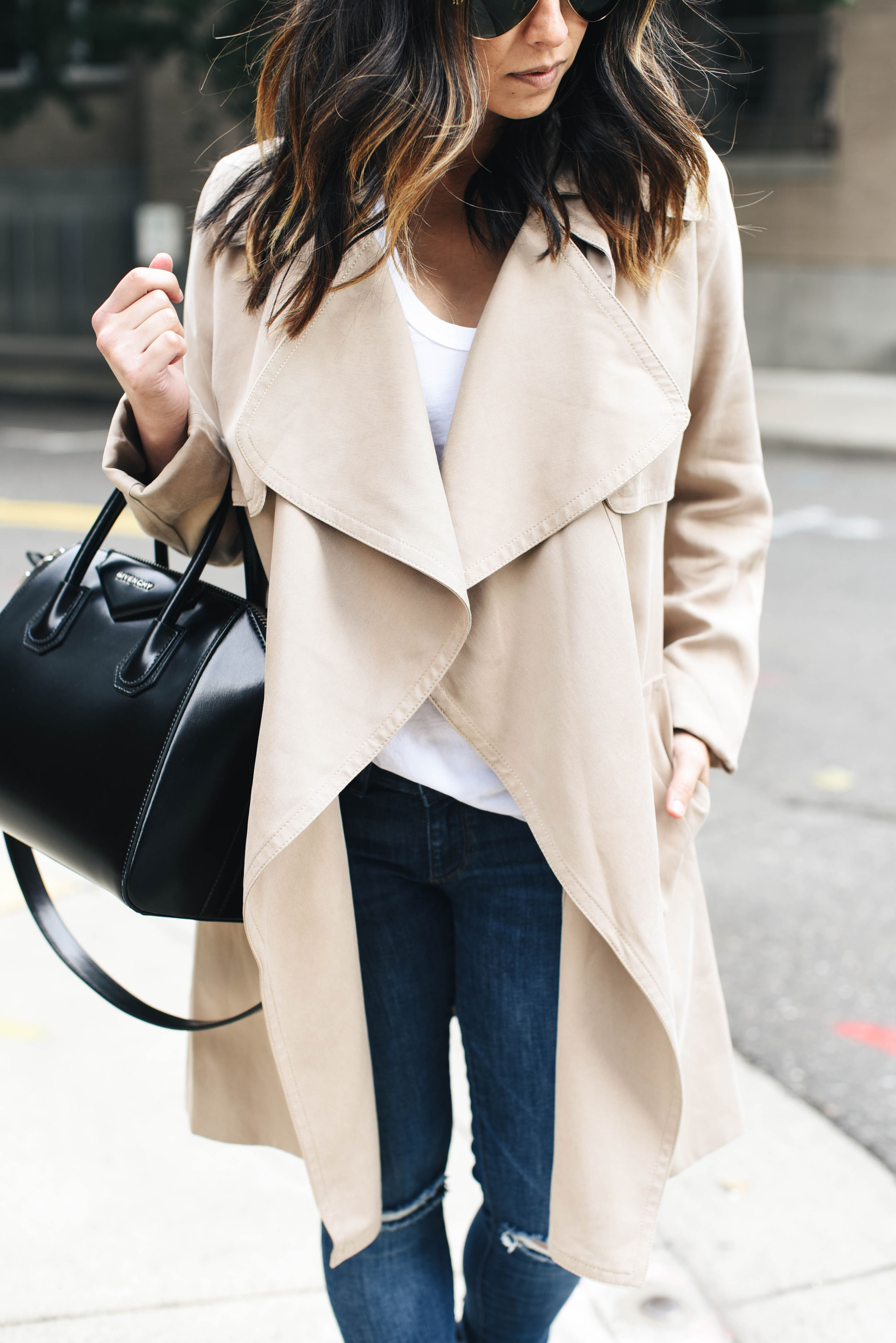 Club Monaco Claudine beige trench coat