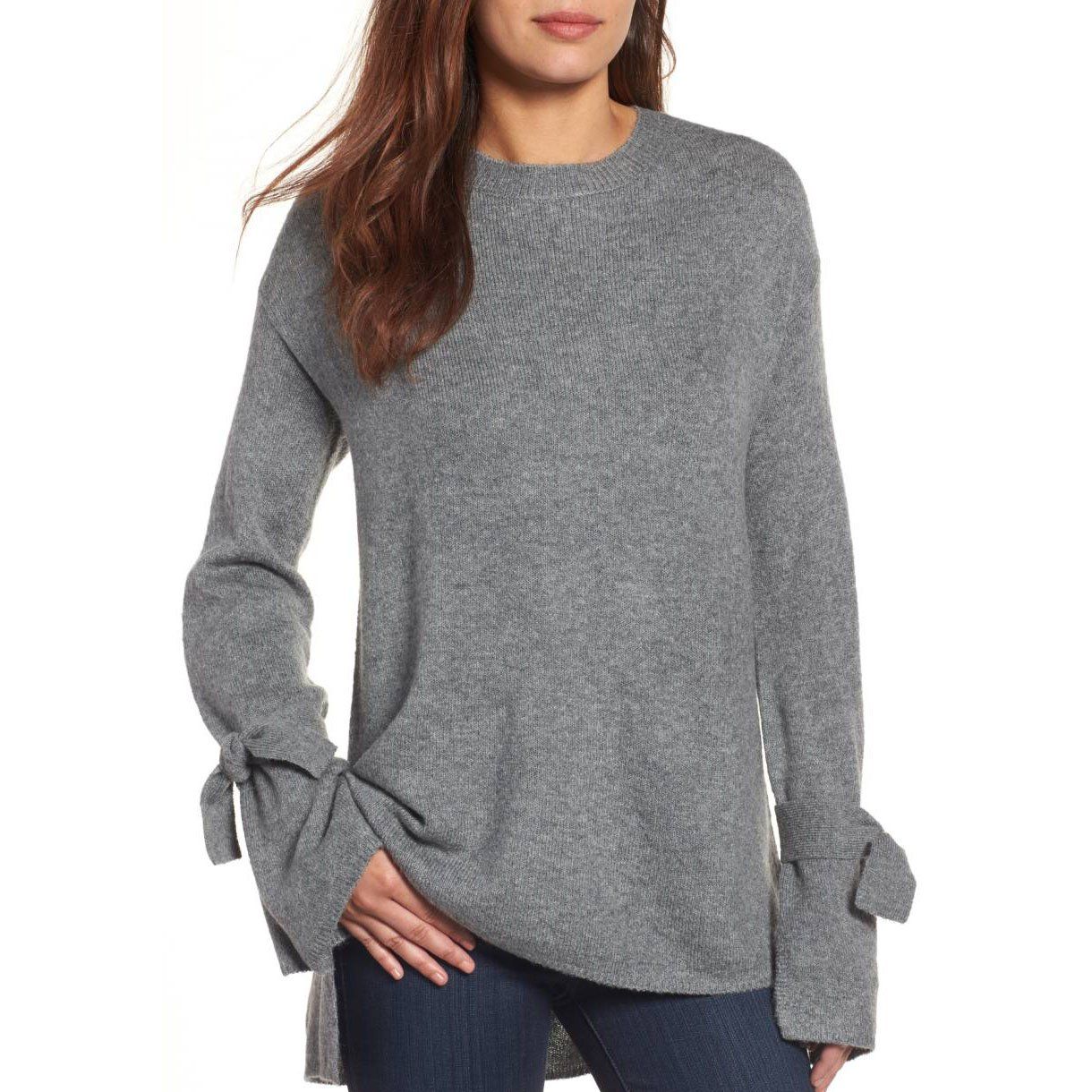 Halogen bow sleeve sweater