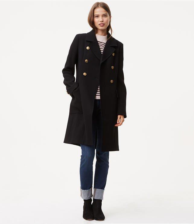 Loft petite miliatry coat