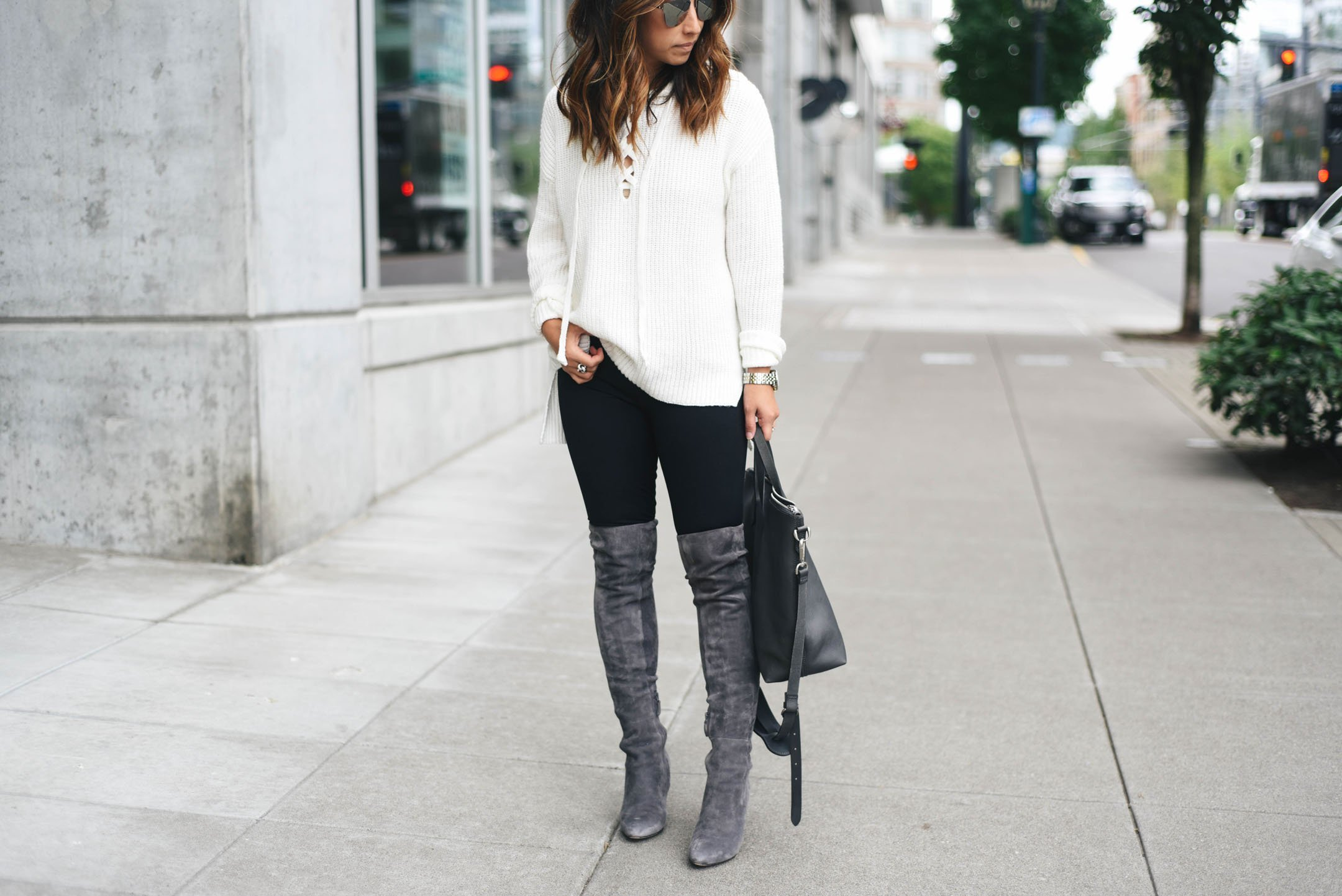 f2263291098b Your Guide to Buying and Styling Over The Knee Boots - Crystalin Marie