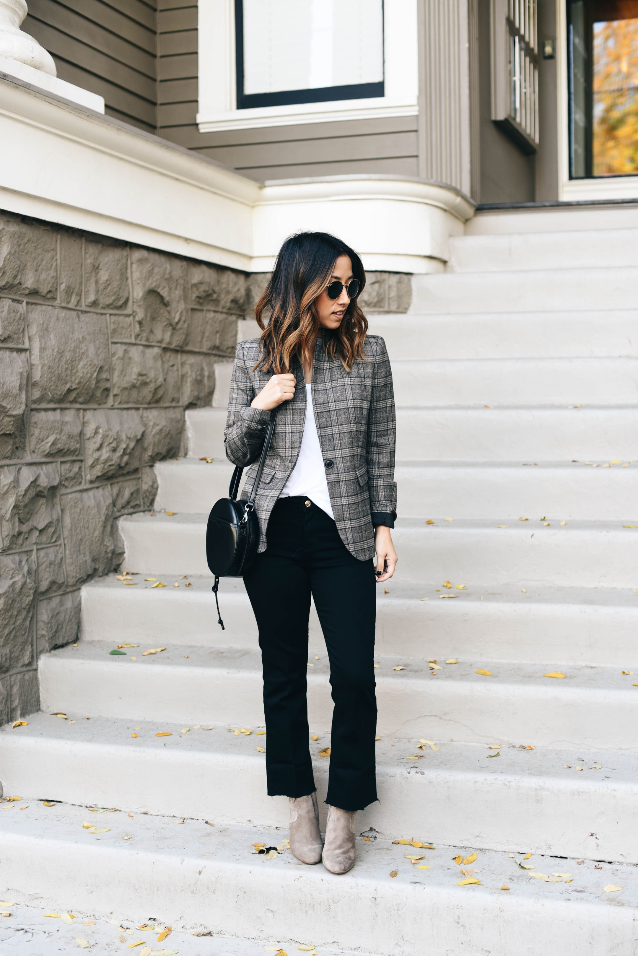 Banana RepublicPlaid blazer