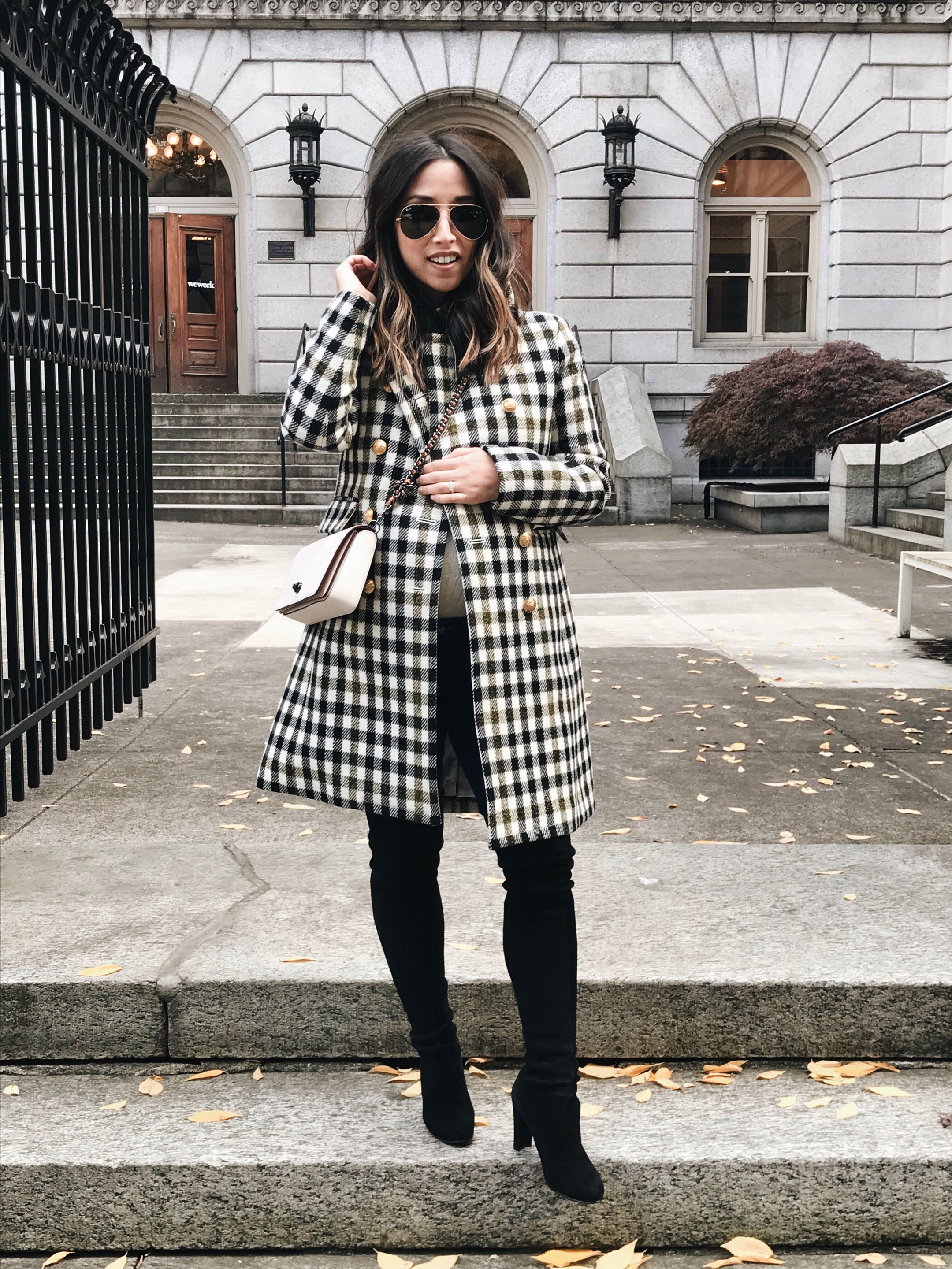 How to style a plaid coat in the fall