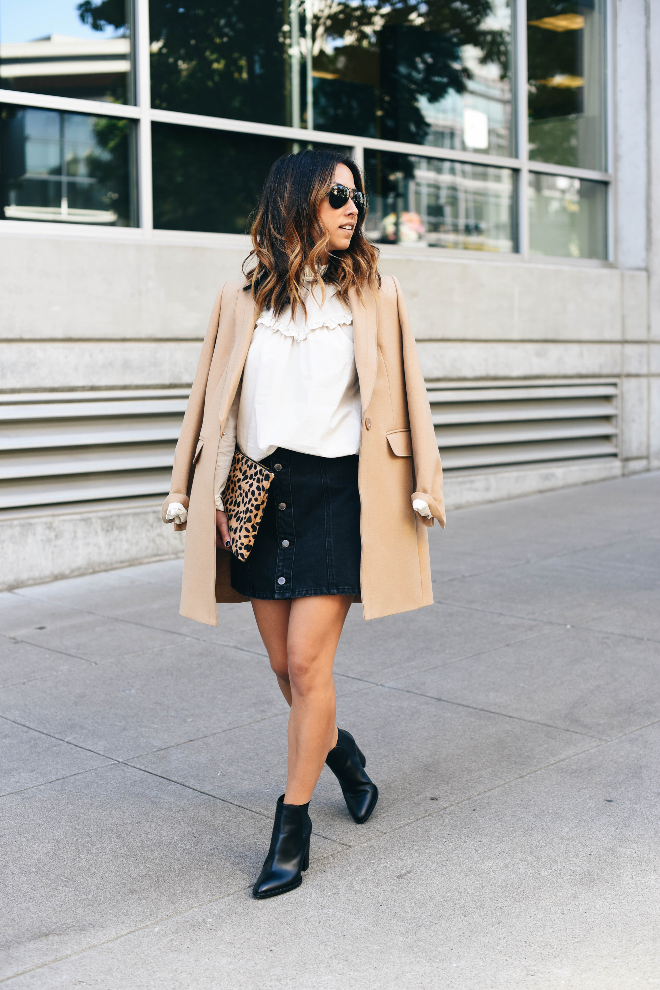 How to wear a skirt in the fall