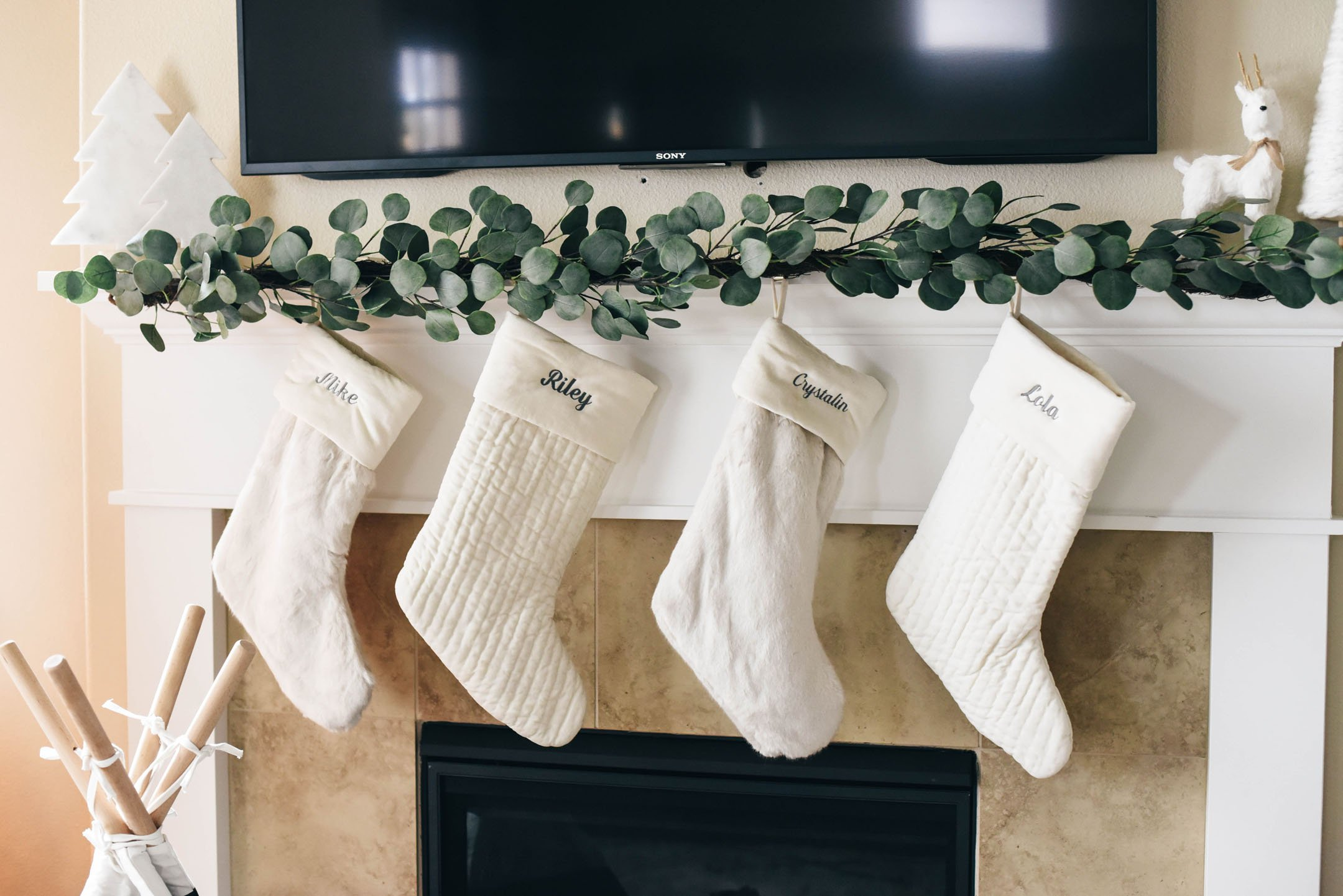 Pottery Barn Faux Fur Stockings